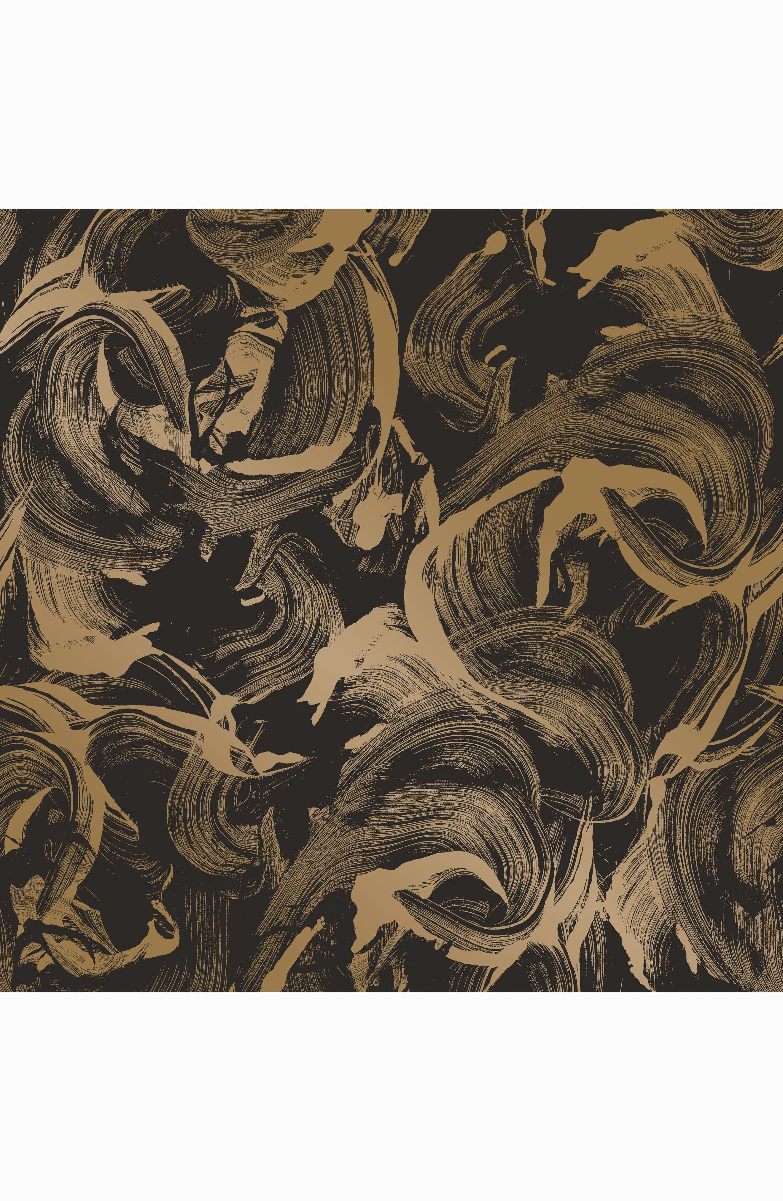 L'Amour Self-Adhesive Vinyl Wallpaper,                             Main thumbnail 1, color,                             Black/ Gold