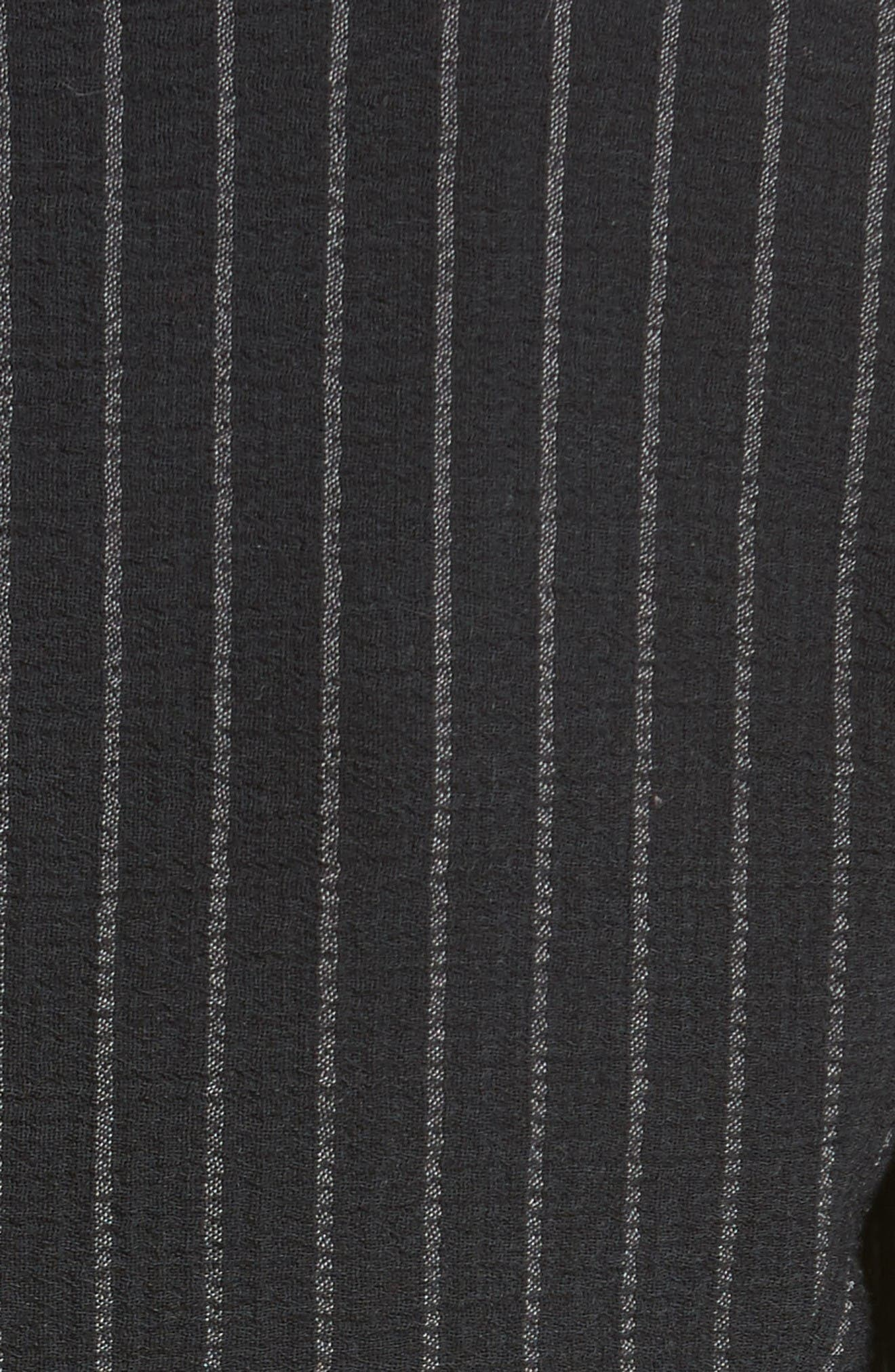 Stretch Wool Pinstripe Jacket,                             Alternate thumbnail 3, color,                             Black Grey Multi