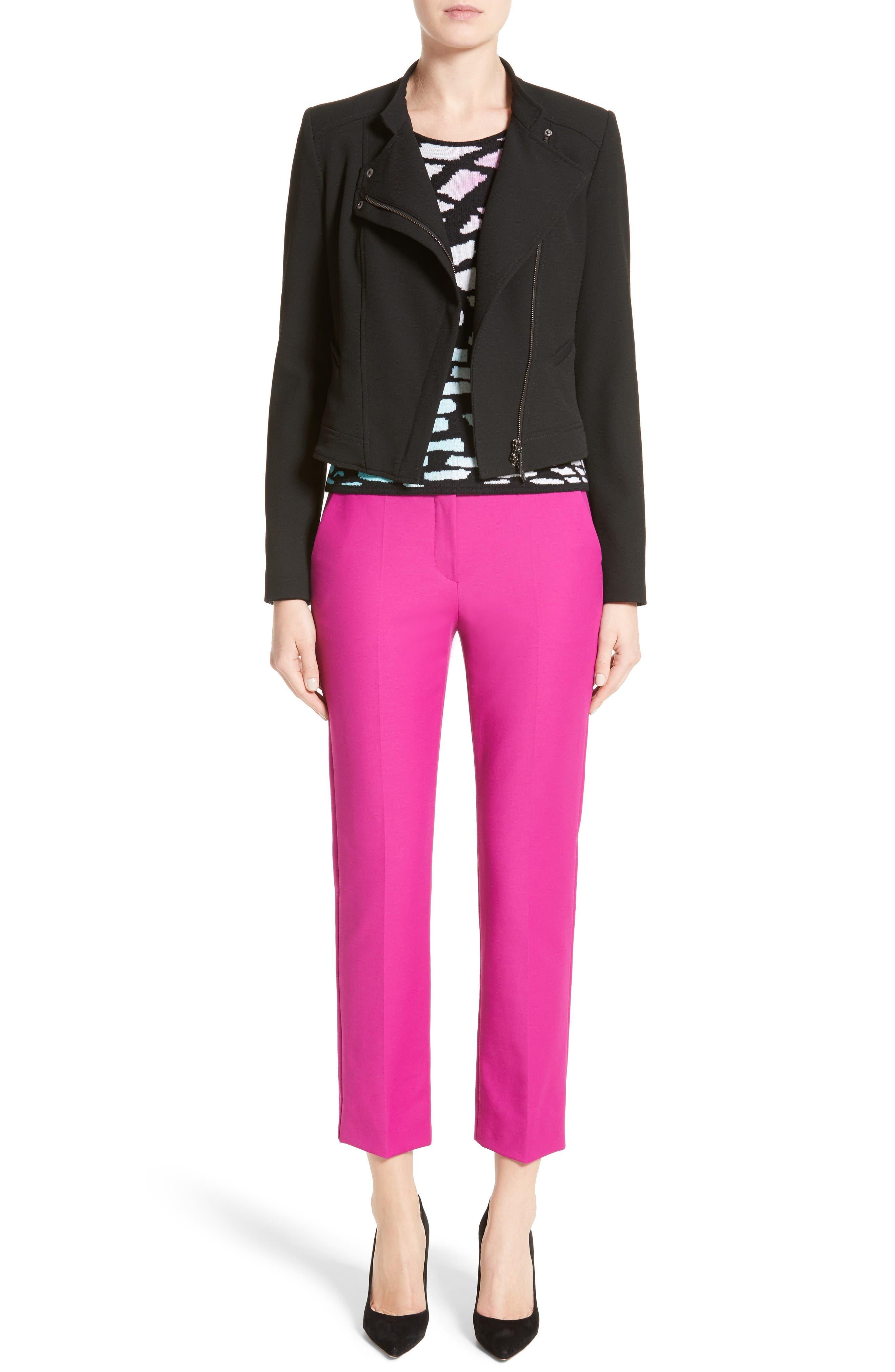 Tech Cotton Blend Slim Pants,                             Alternate thumbnail 8, color,                             Orchid