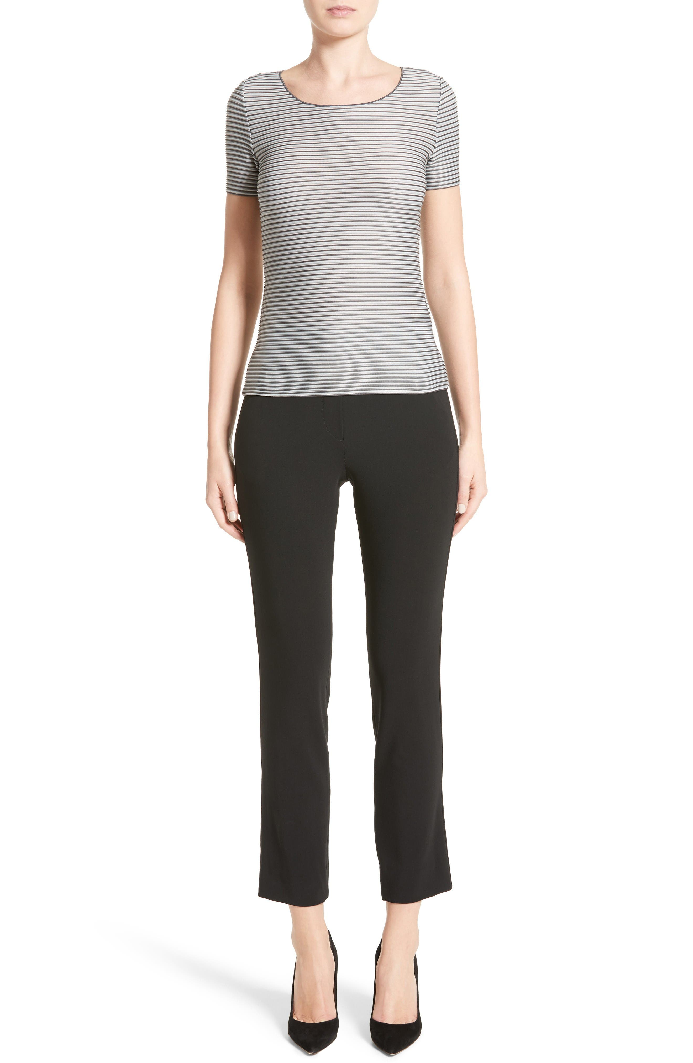Alternate Image 11  - Armani Collezioni Stretch Wool Pants