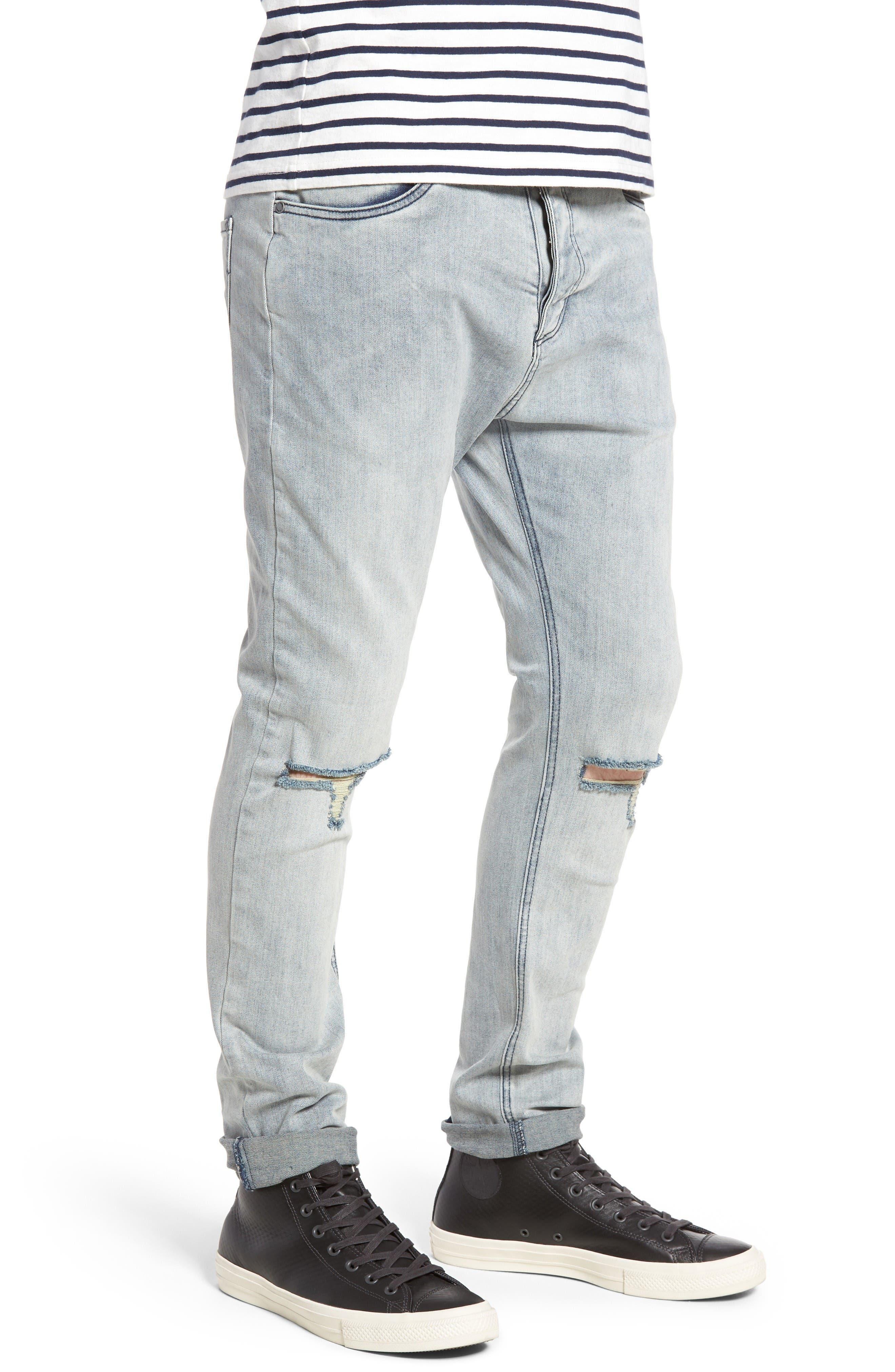 Alternate Image 3  - ZANEROBE Joe Blow Destroyed Denim Jeans (Smooth Blue)