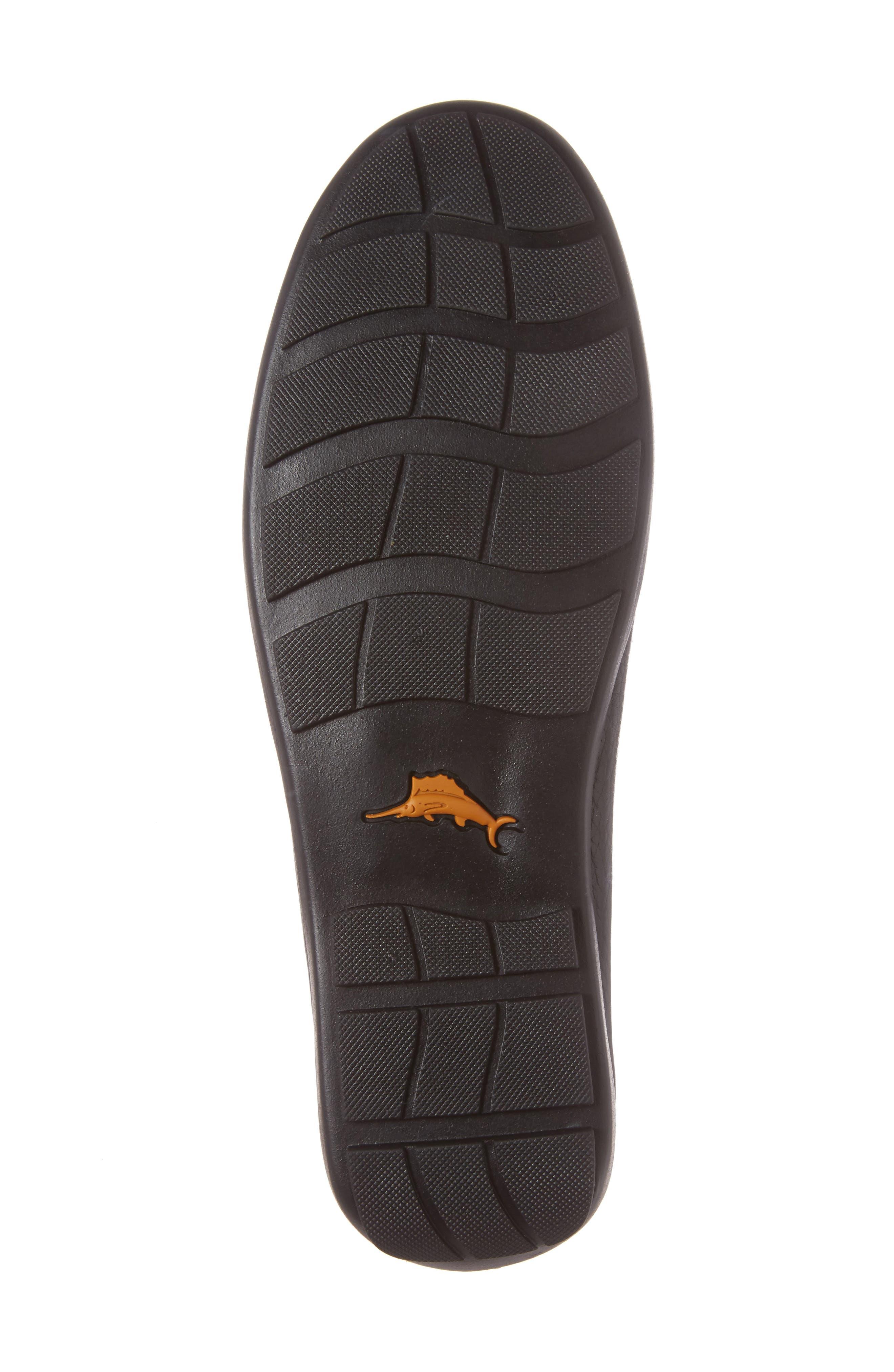 Orion Venetian Loafer,                             Alternate thumbnail 6, color,                             Black Leather