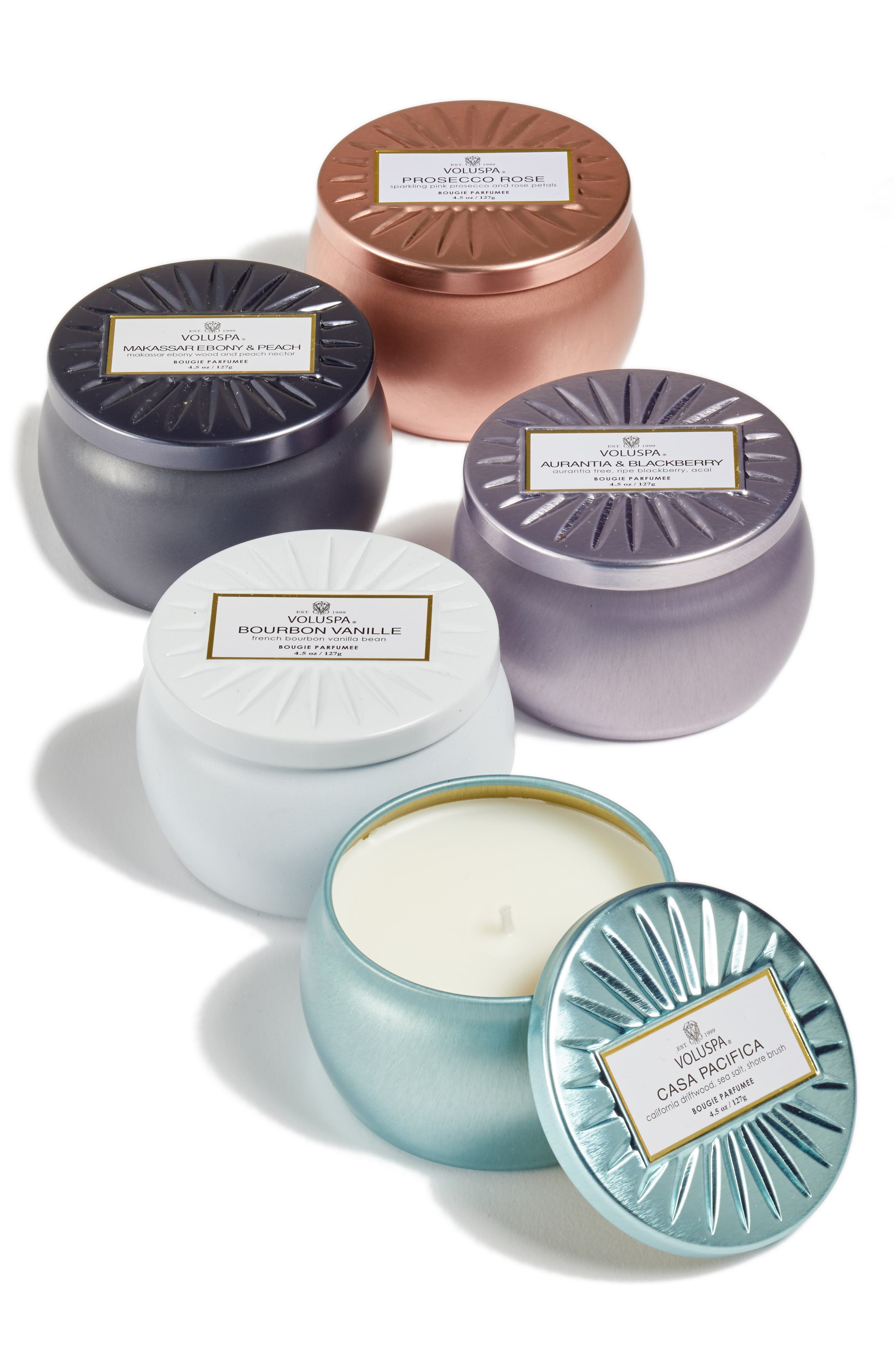 Vermeil Mini Tin Candle Set,                             Alternate thumbnail 2, color,                             No Color