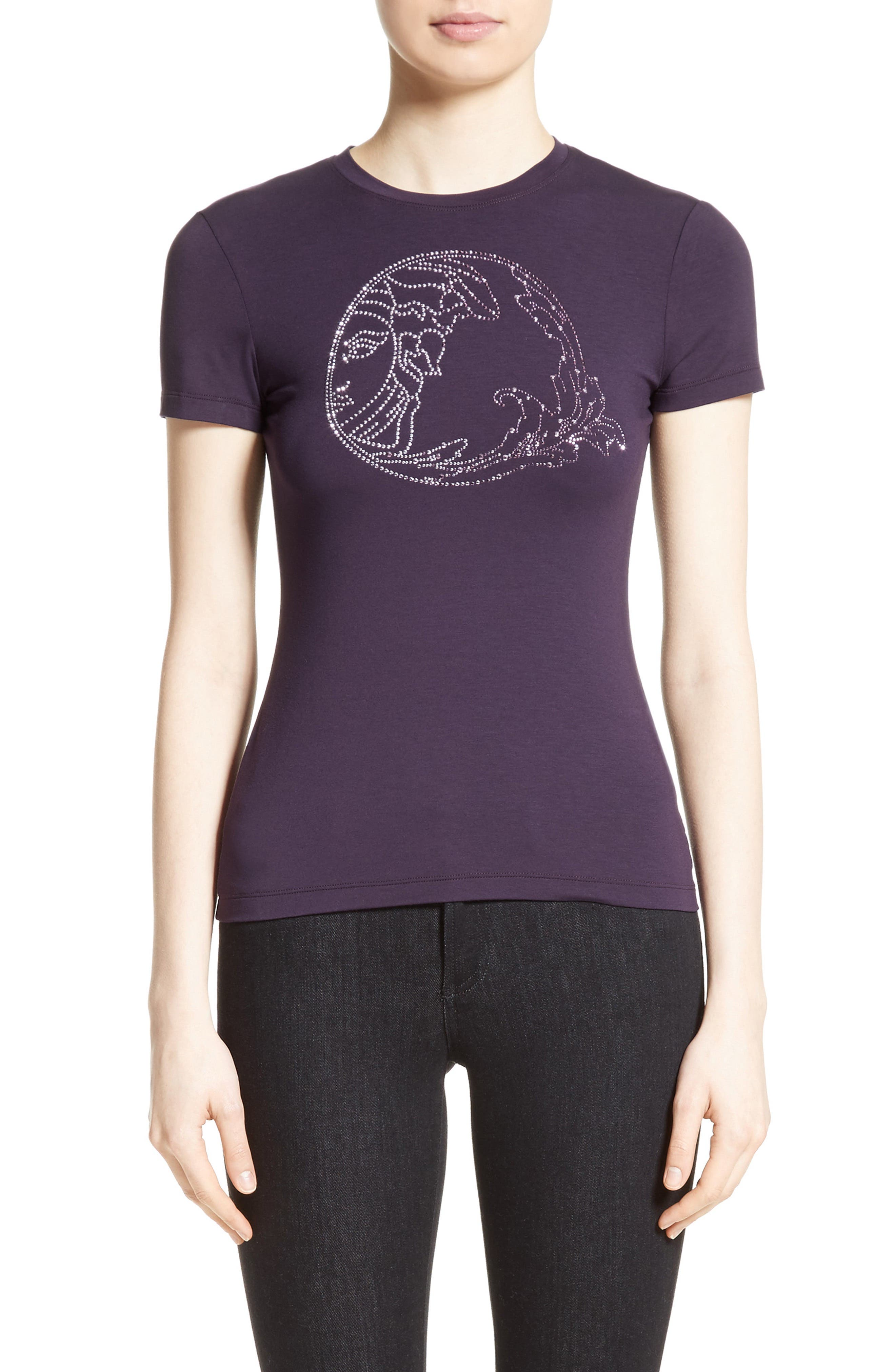 Versace Collection Embellished Logo Tee