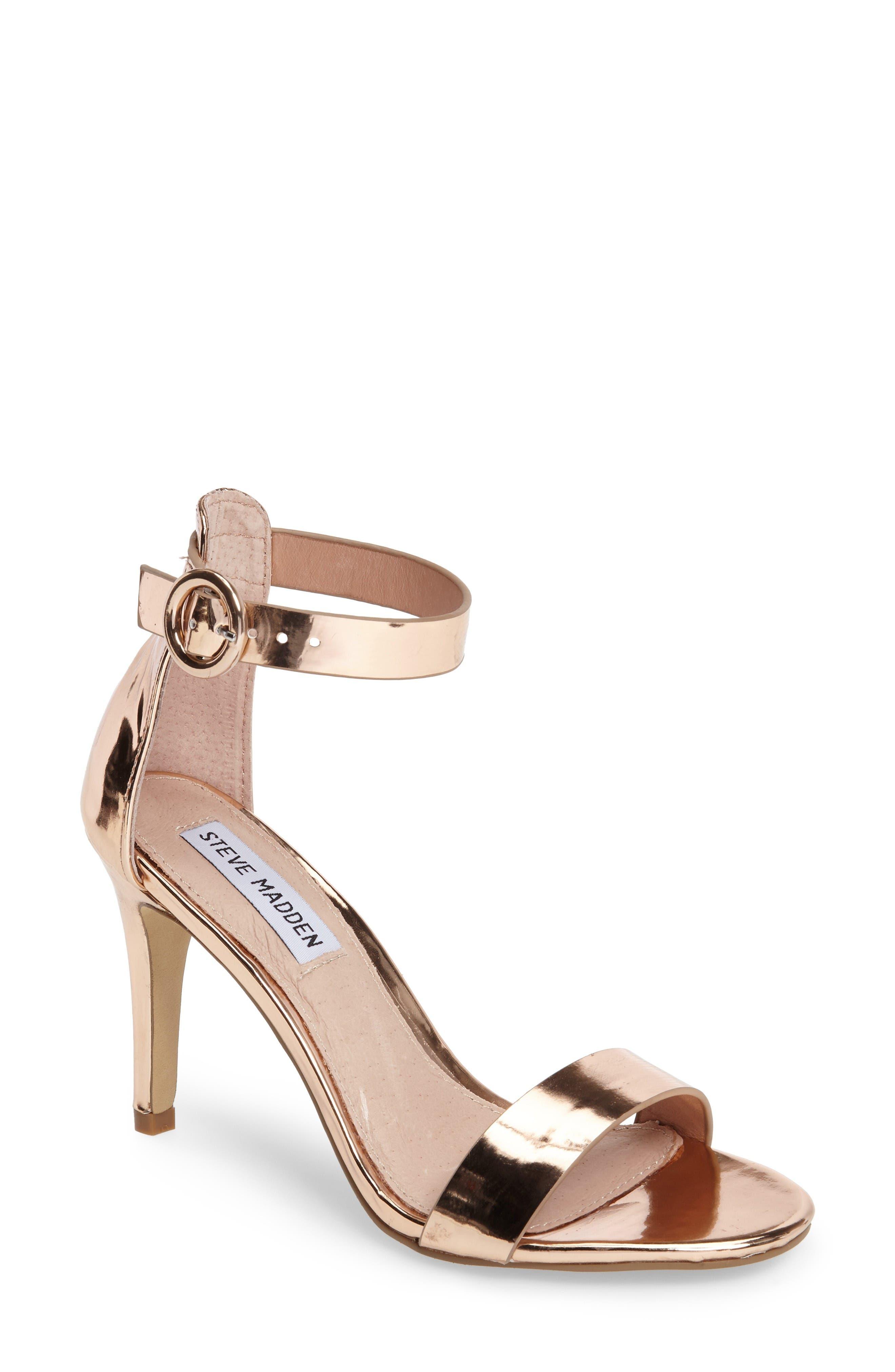 Born Sandal,                         Main,                         color, Rose Gold Faux Leather