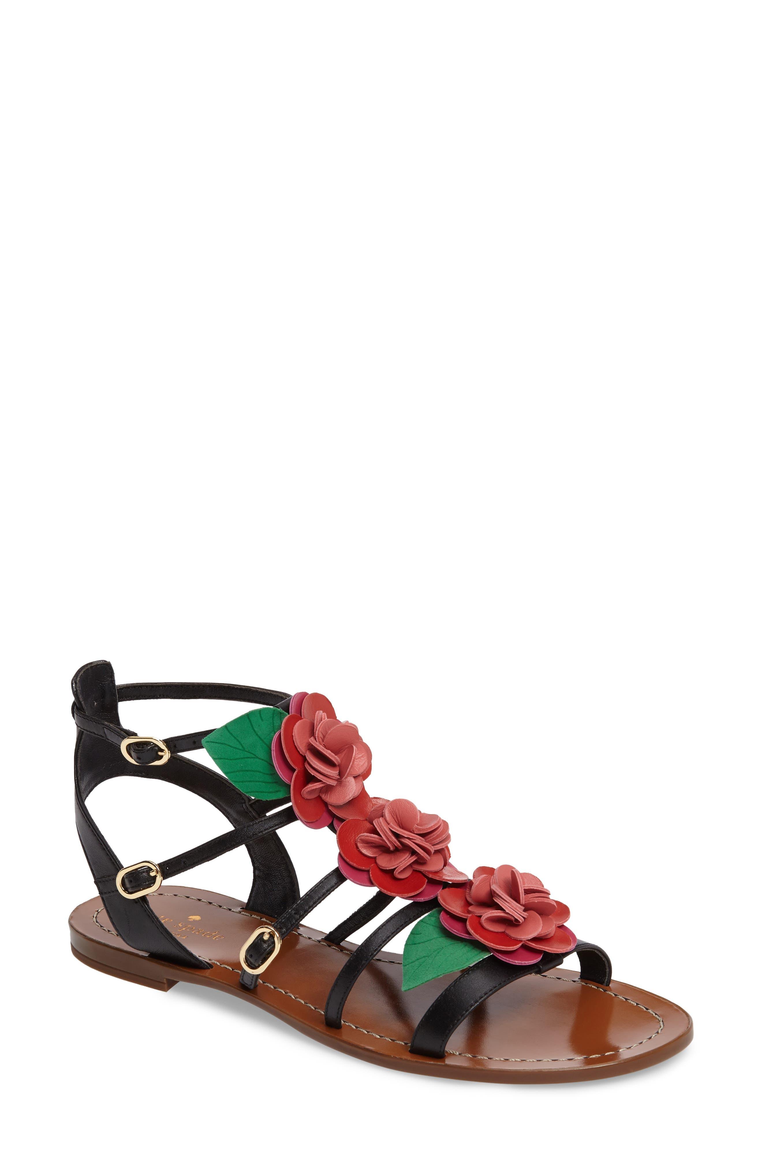 kate spade new york columbus flat sandal (Women)