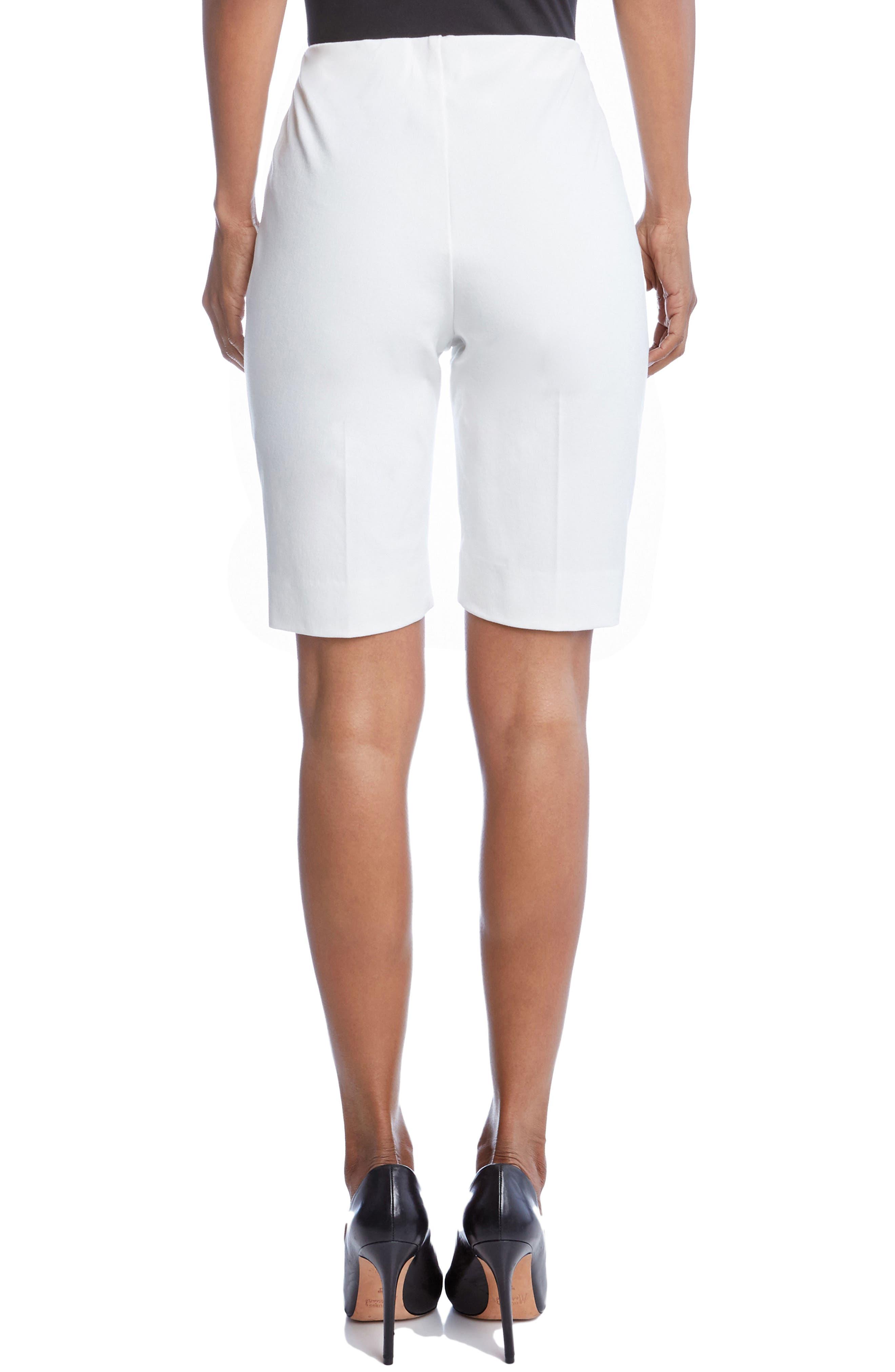 Side Slit Bermuda Shorts,                             Alternate thumbnail 2, color,                             Off White
