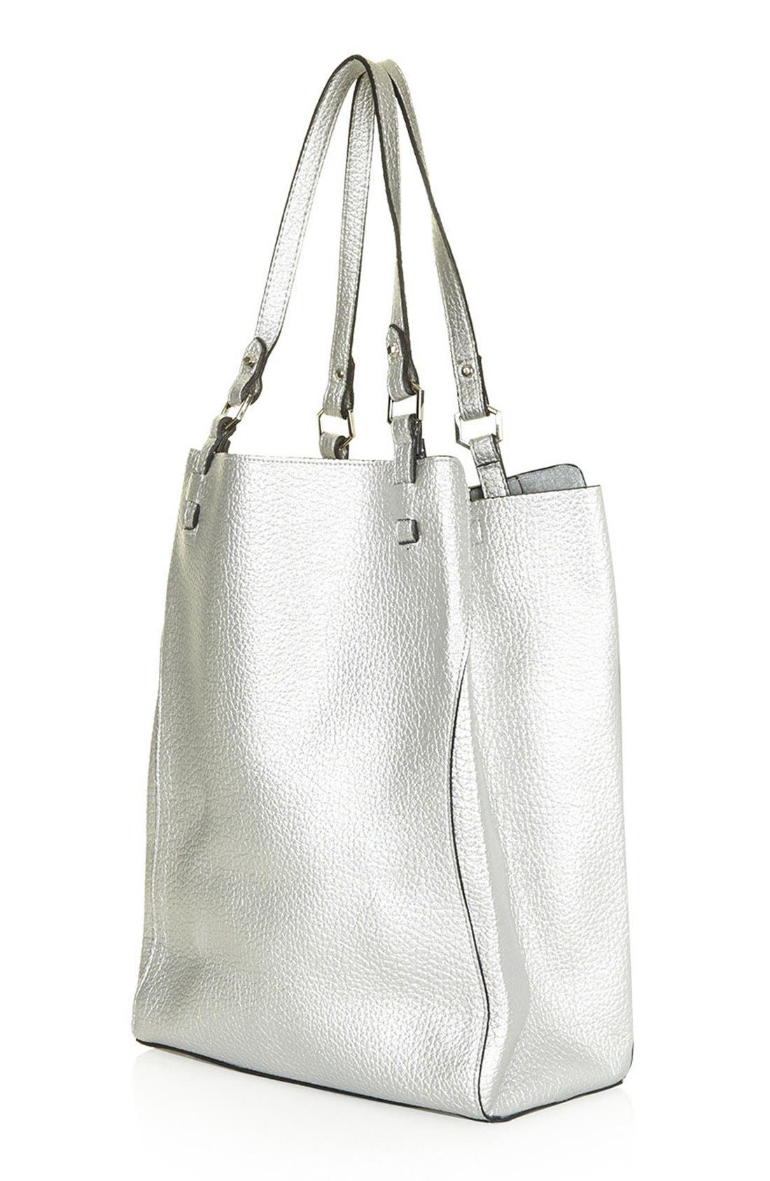 Alternate Image 3  - Topshop 'Hex' Faux Leather Tote