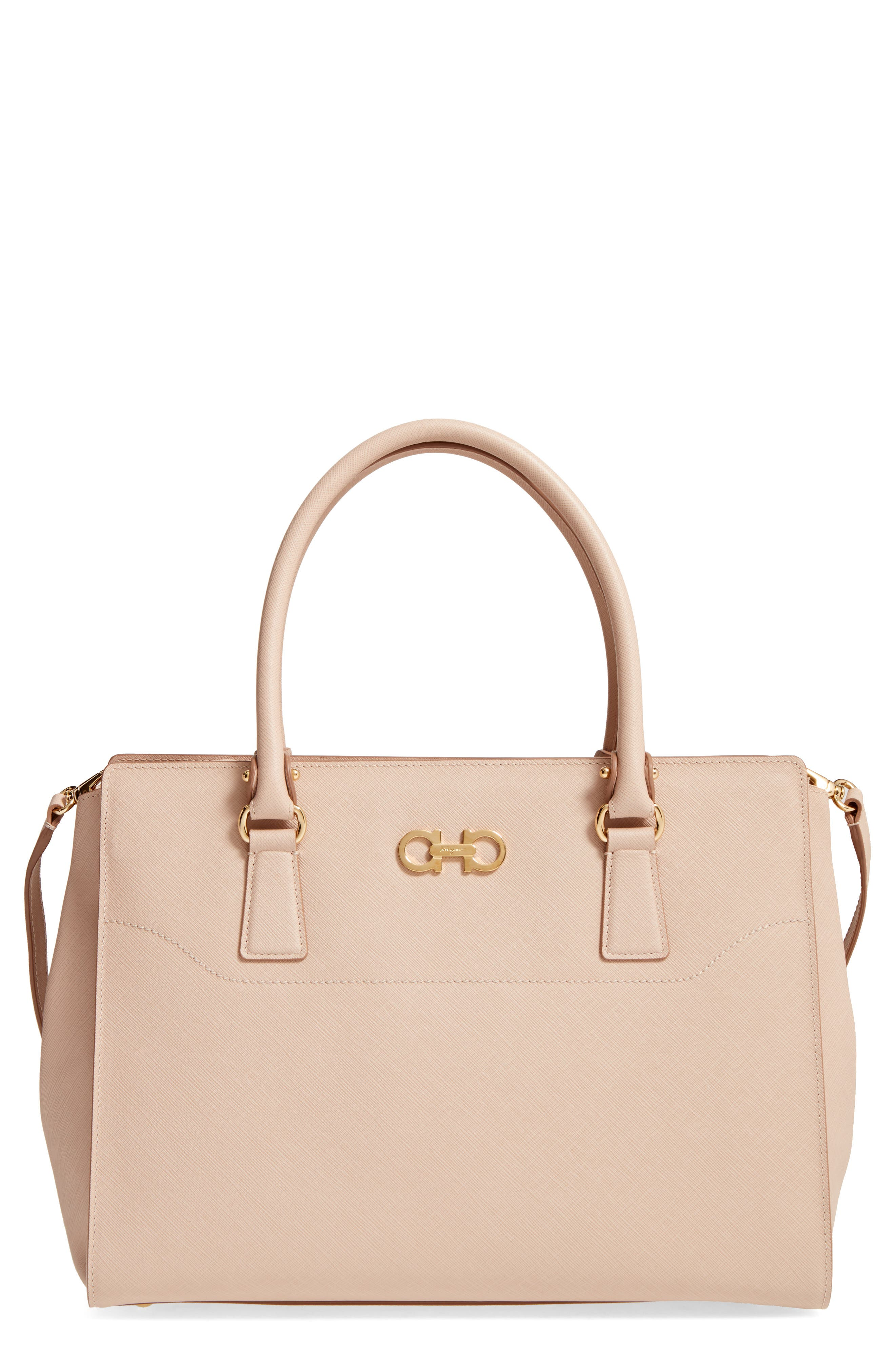 Saffiano Leather Tote,                             Main thumbnail 1, color,                             New Bisque Macaron