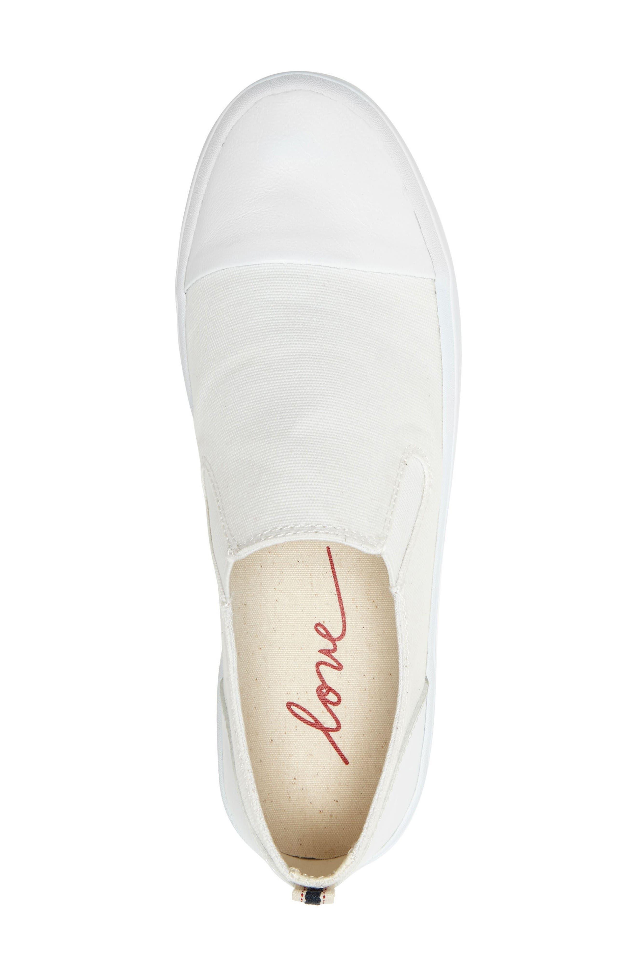 Darja Slip-On Sneaker,                             Alternate thumbnail 4, color,                             Pure White Fabric
