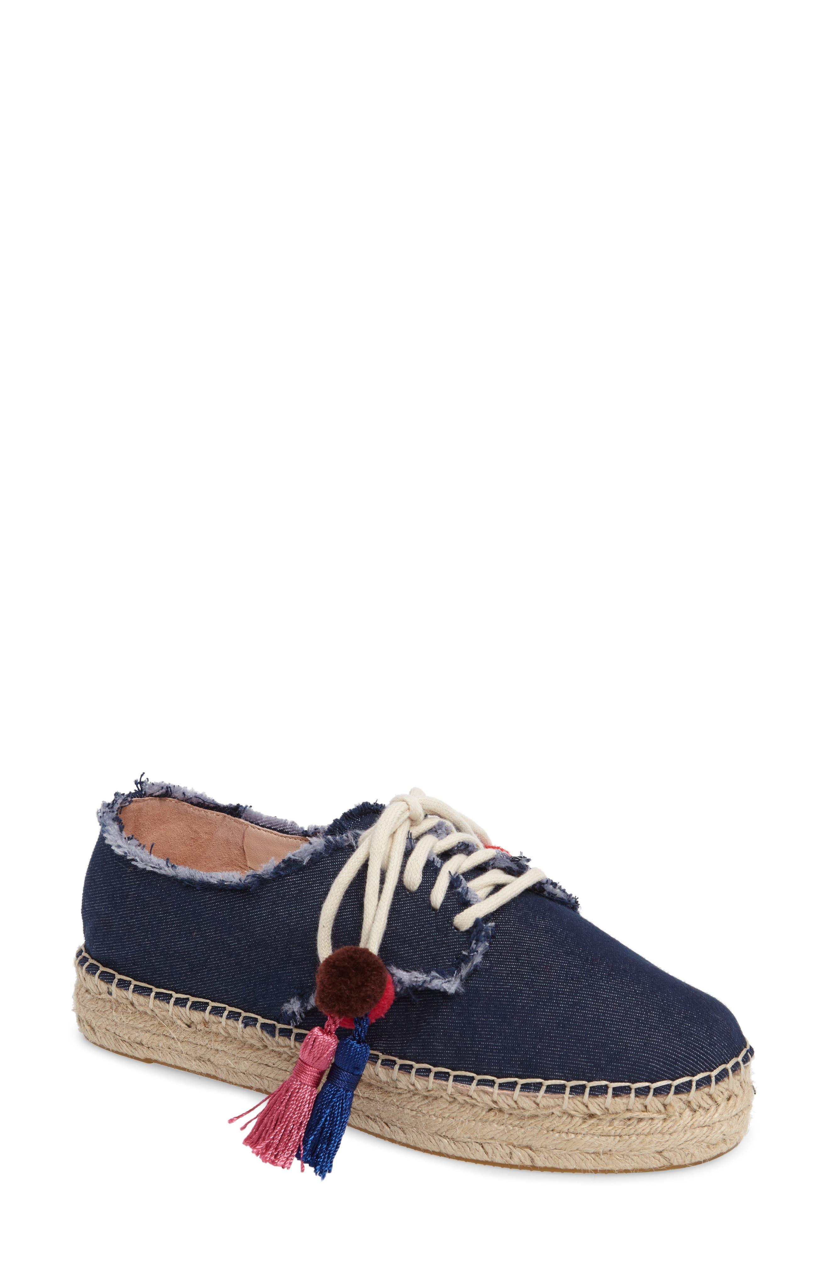 lane espadrille platform sneaker,                         Main,                         color, Blue Jeans