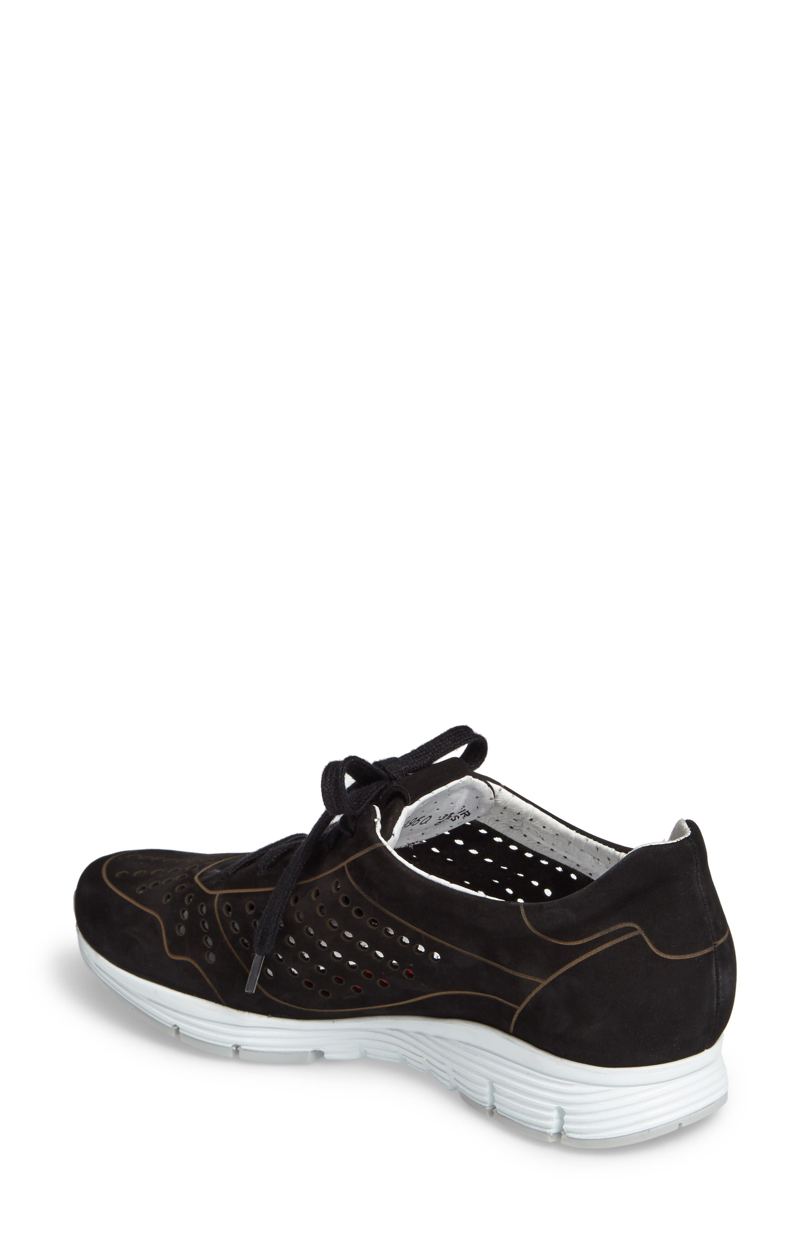 Yliane Sneaker,                             Alternate thumbnail 2, color,                             Black Nubuck Leather