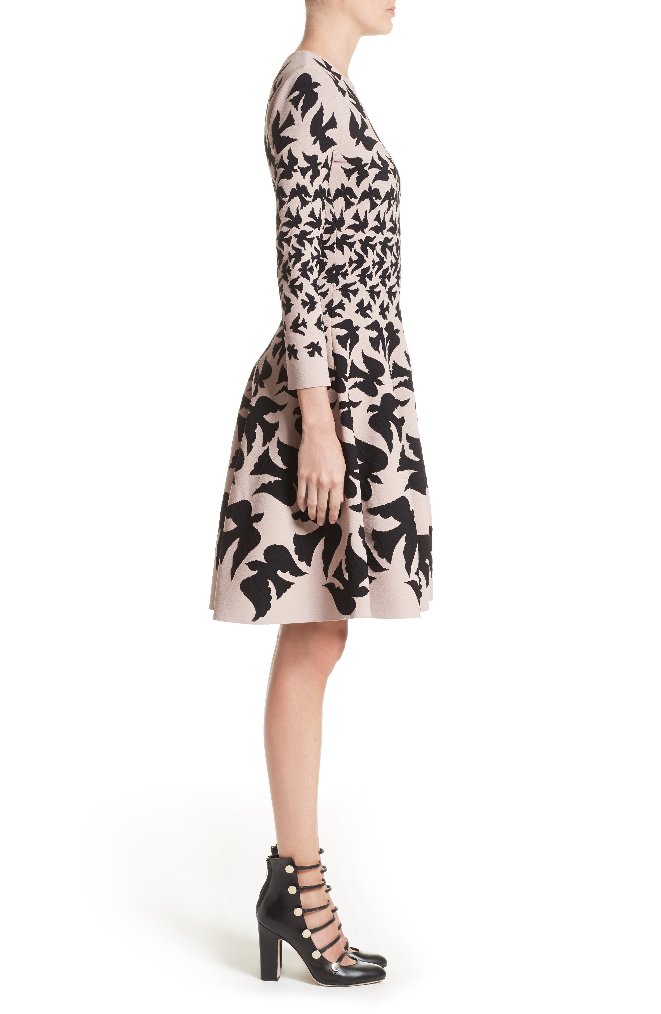 Alternate Image 4  - Alexander McQueen Swallow Jacquard Dress