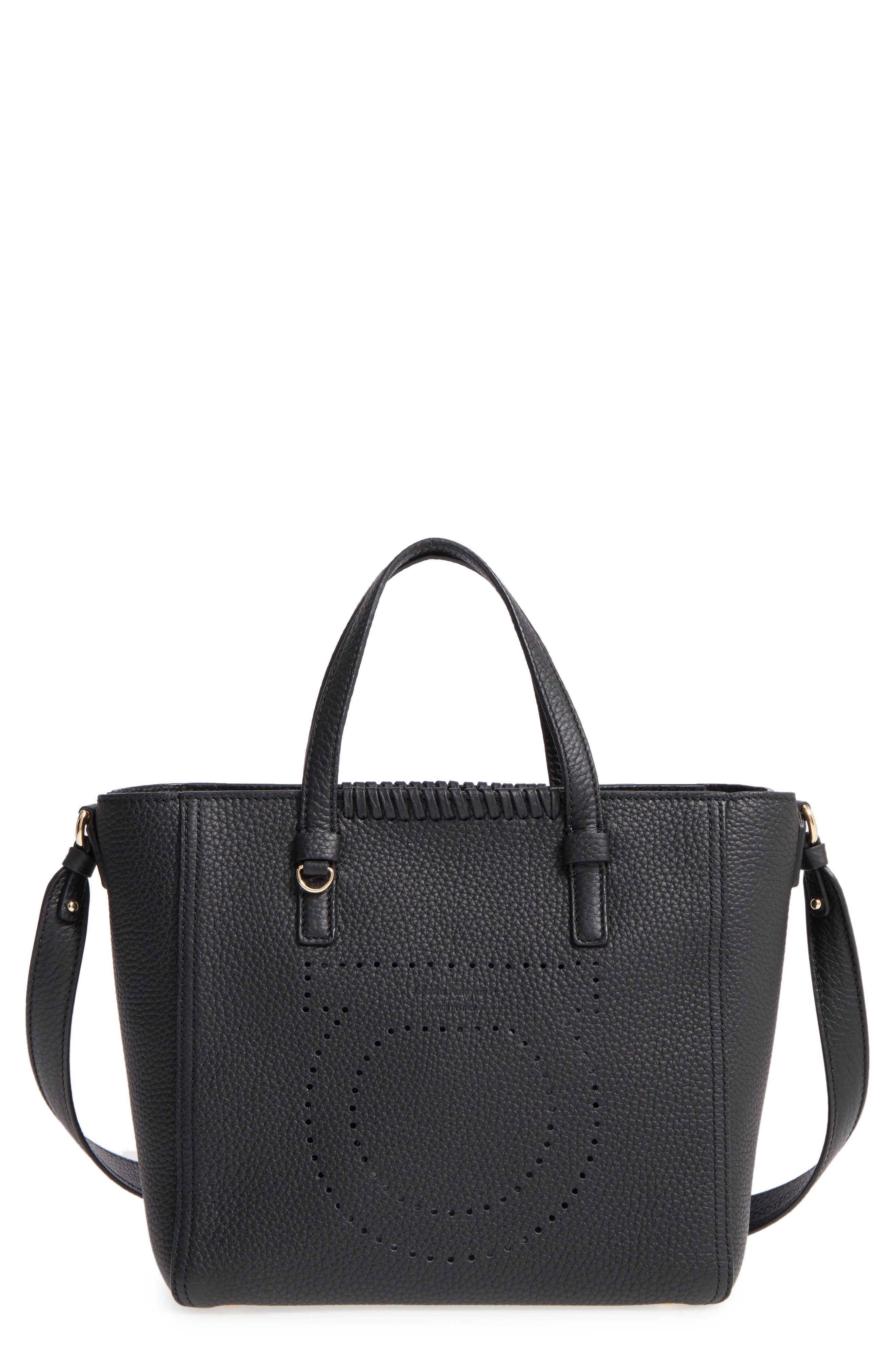 Salvatore Ferragamo Small Pebbled Leather Tote
