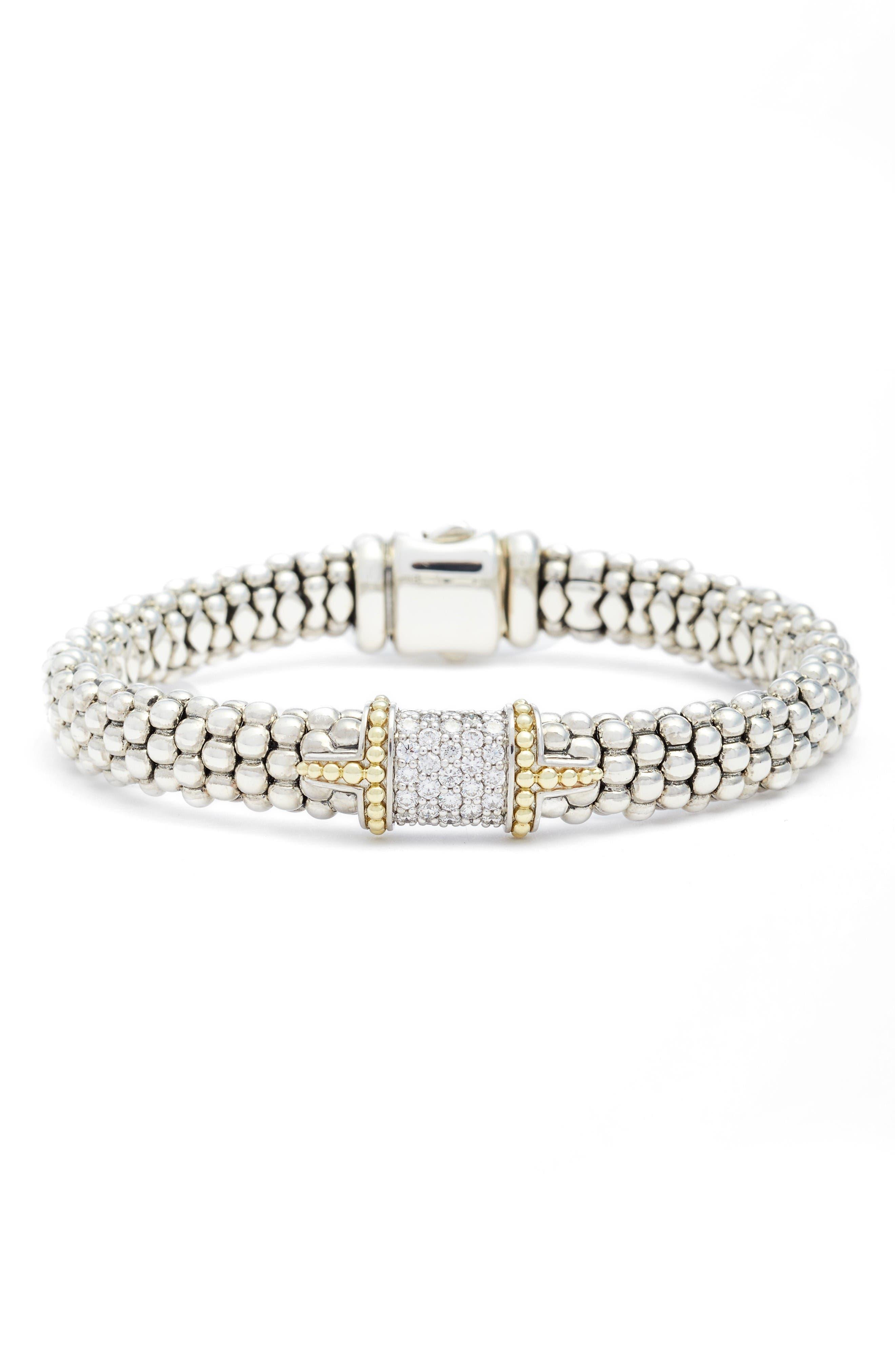 Main Image - LAGOS Diamond & Caviar Square Bracelet