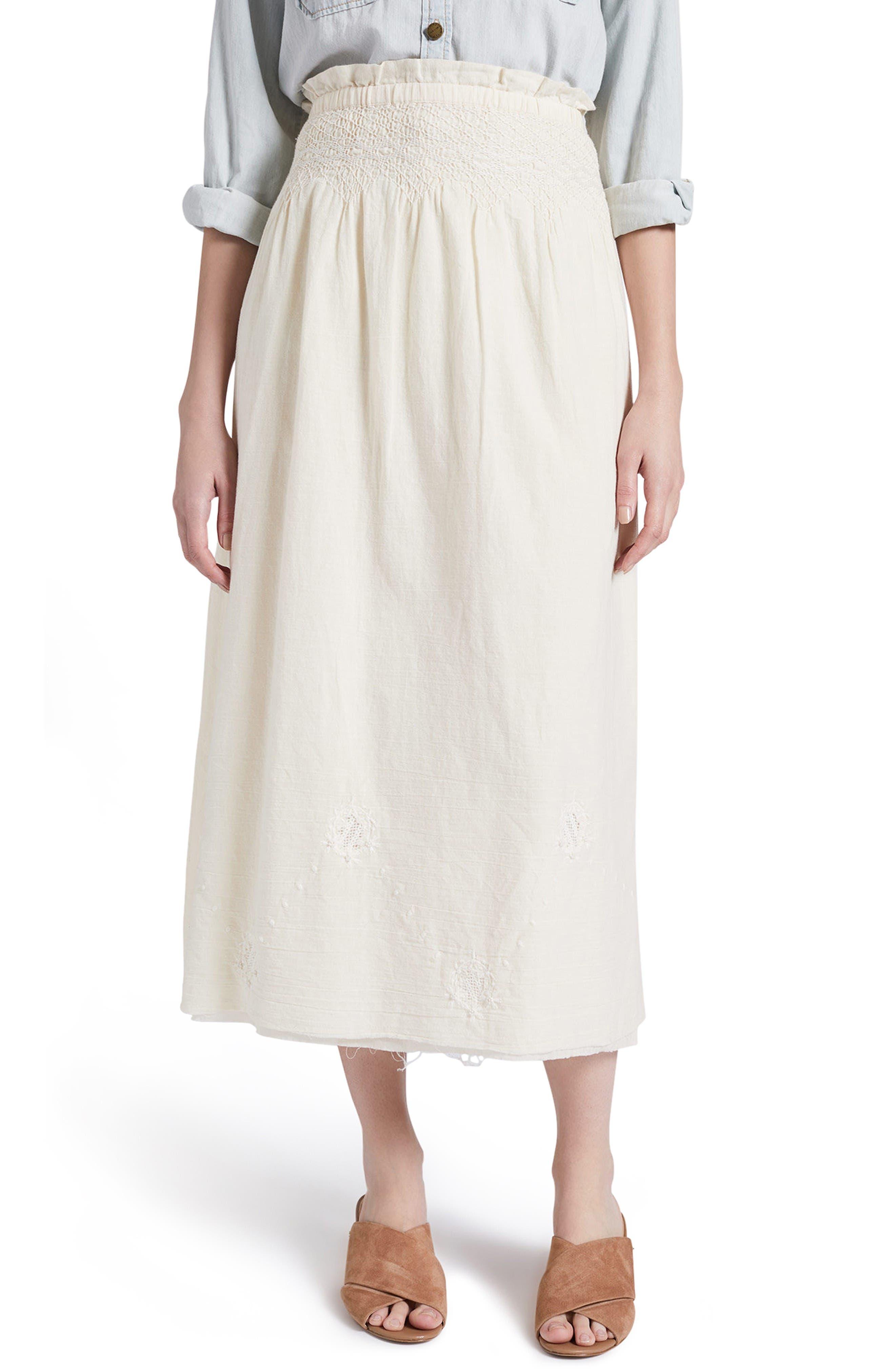 CURRENT/ELLIOTT The Rancher High Waist Cotton Skirt