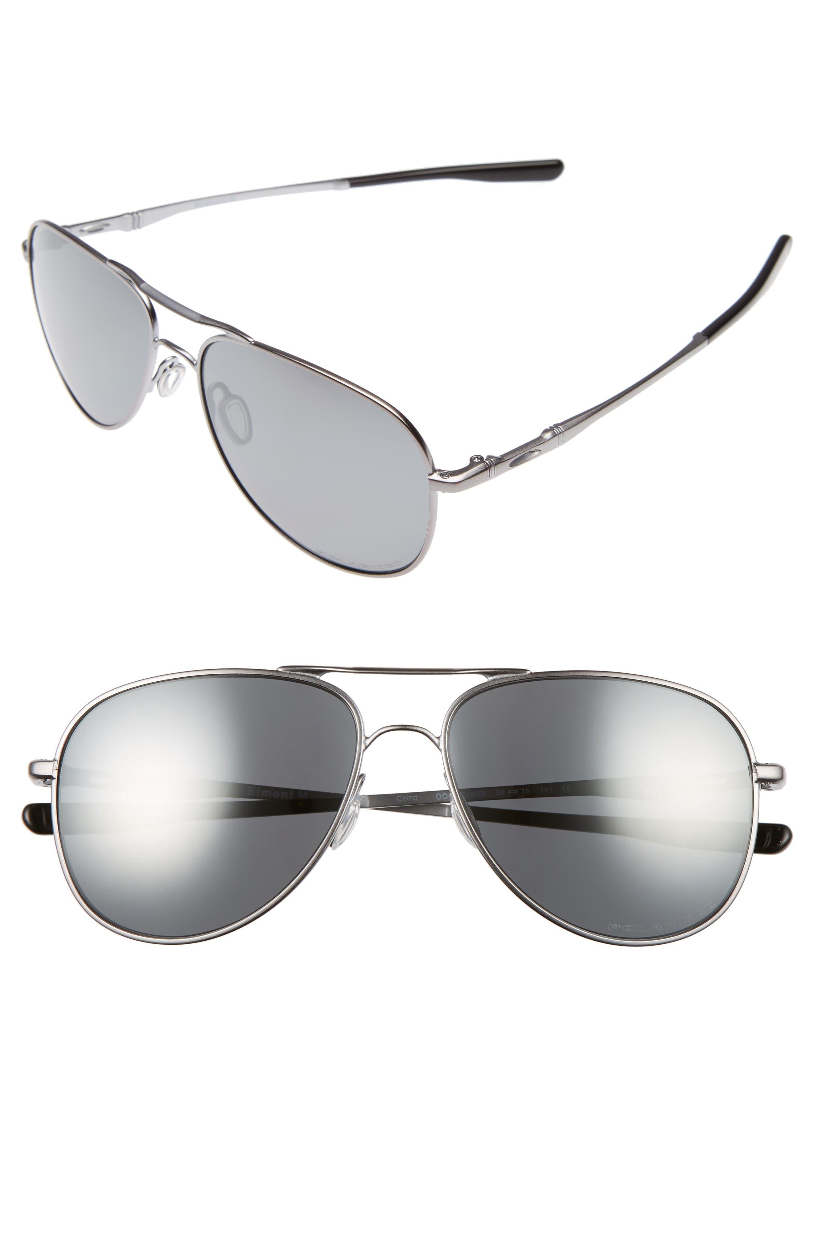 Oakley Elmont 58mm Polarized Aviator Sunglasses