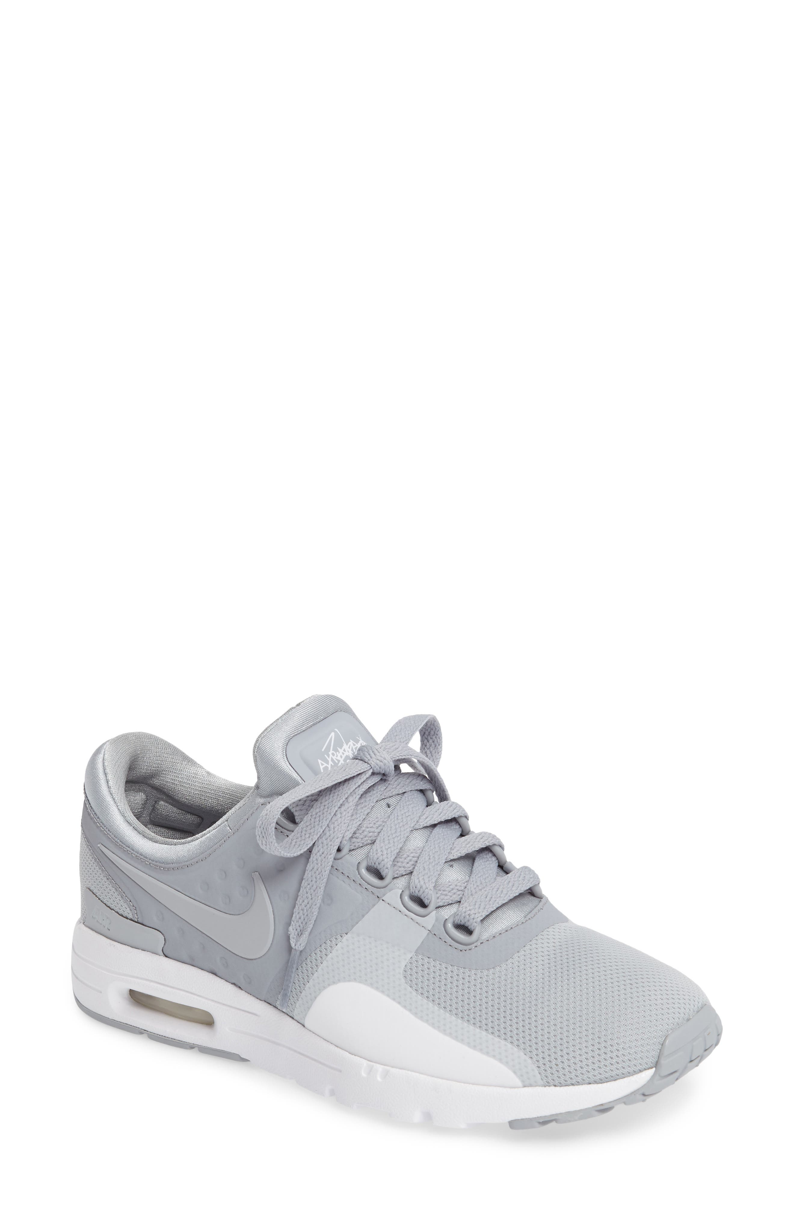 Air Max Zero Sneaker,                             Main thumbnail 1, color,                             Wolf Grey/ Wolf Grey/ White