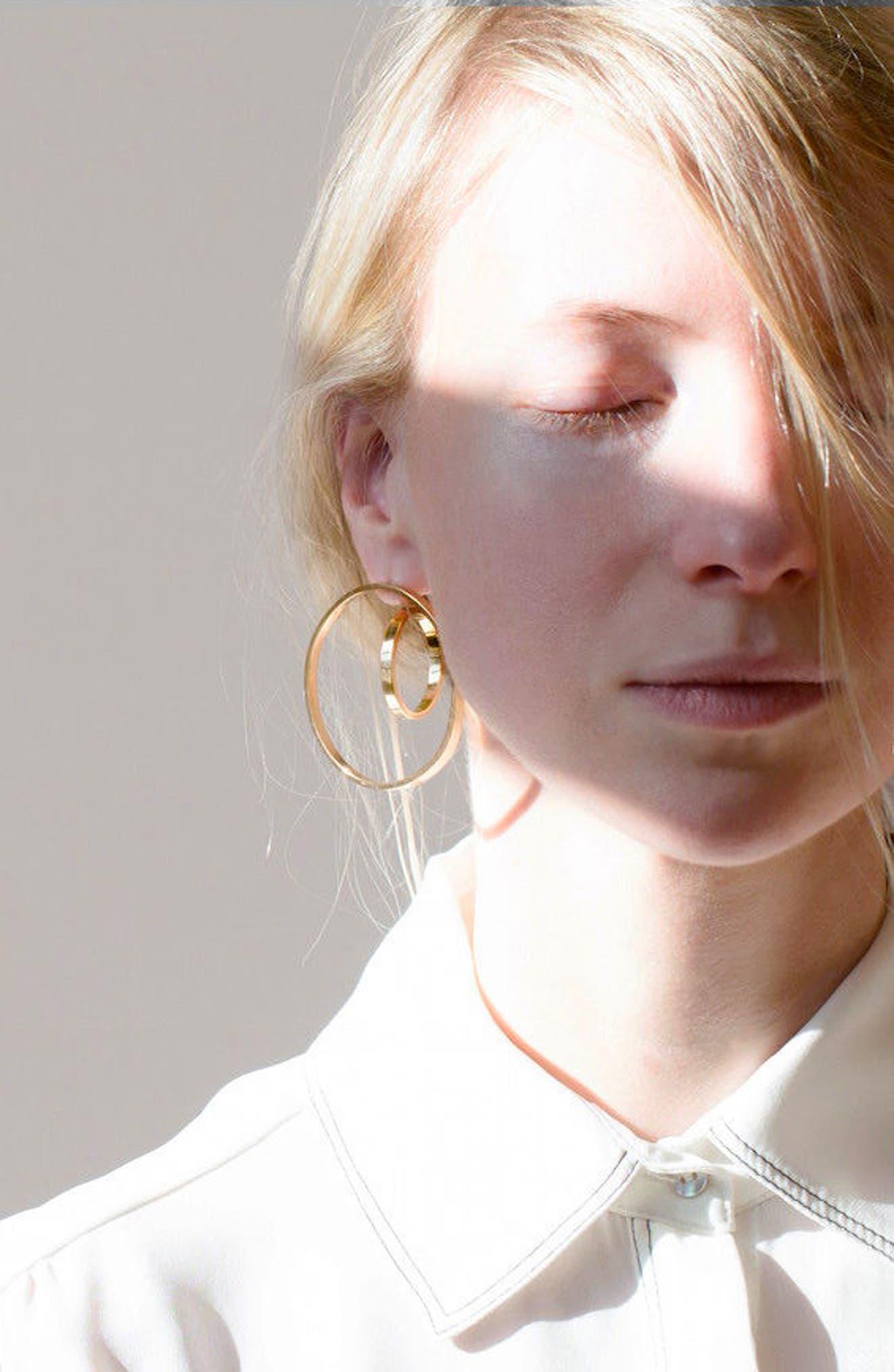 Alternate Image 6  - Jenny Bird Rise Hoop Earrings