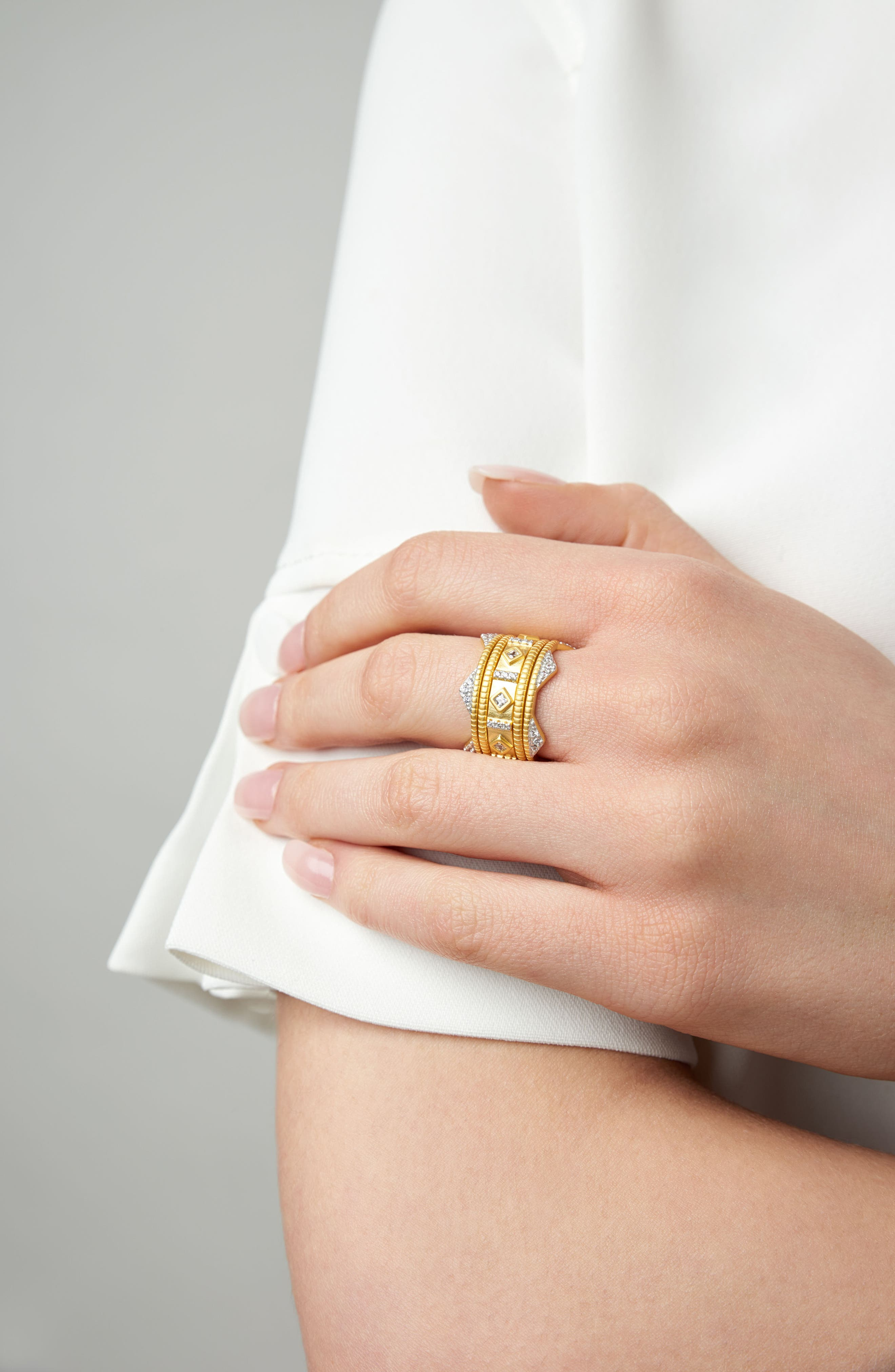 Visionary Fusion Set of 5 Stack Rings,                             Alternate thumbnail 4, color,                             Gold