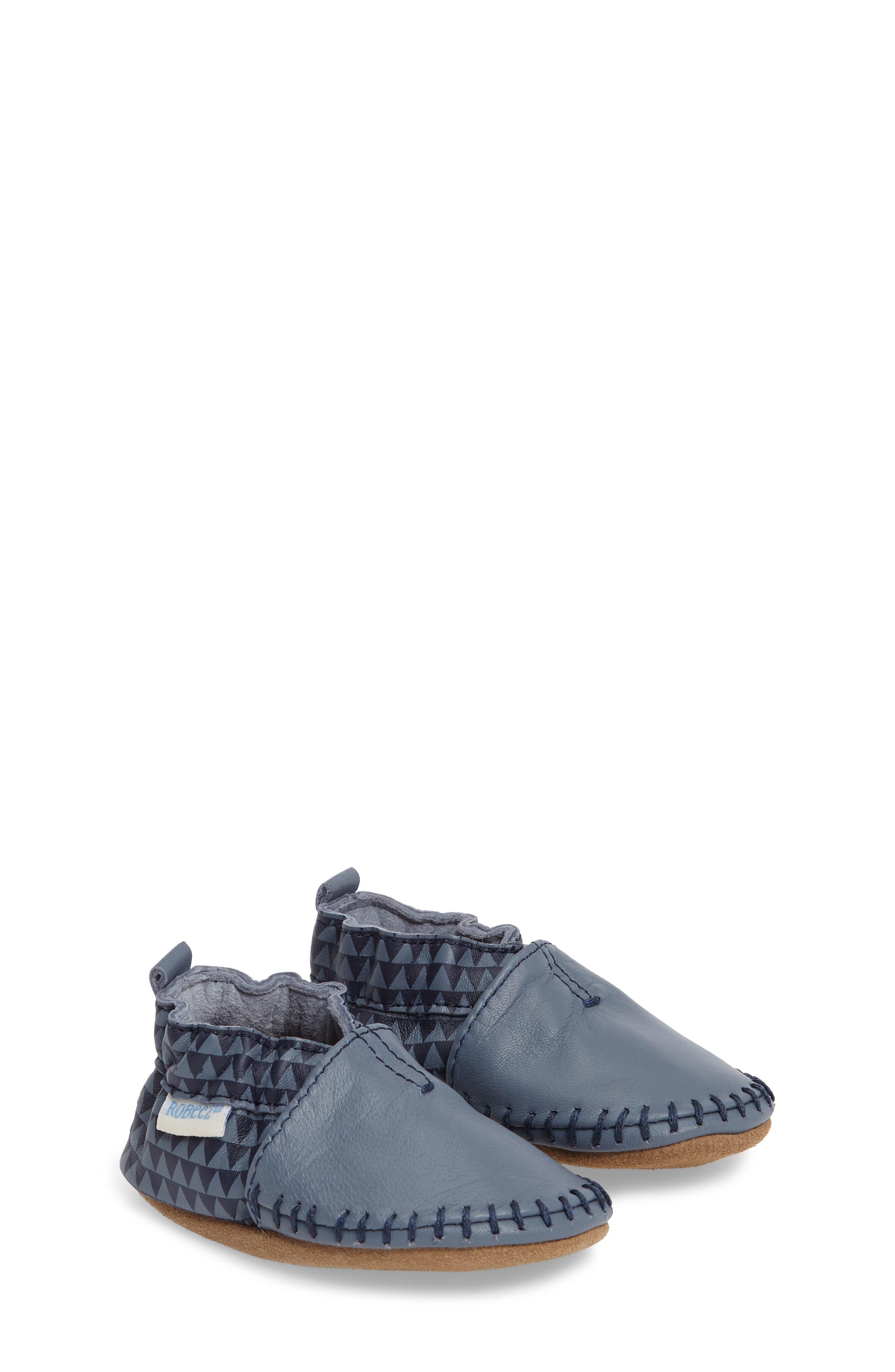 Robeez® 'Classic Moccasin' Crib Shoe (Baby & Walker)