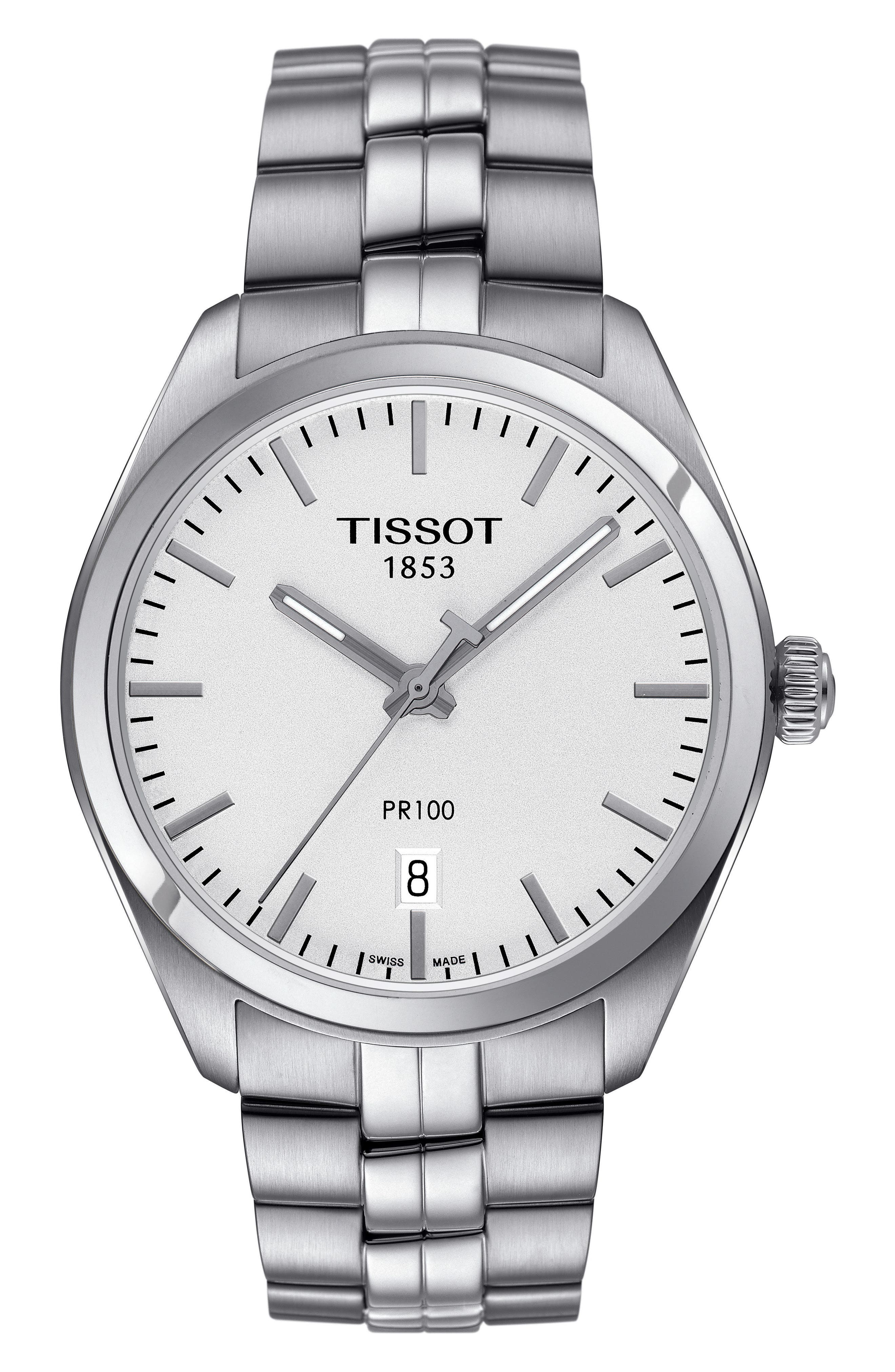 TISSOT PR100 Bracelet Watch, 39mm
