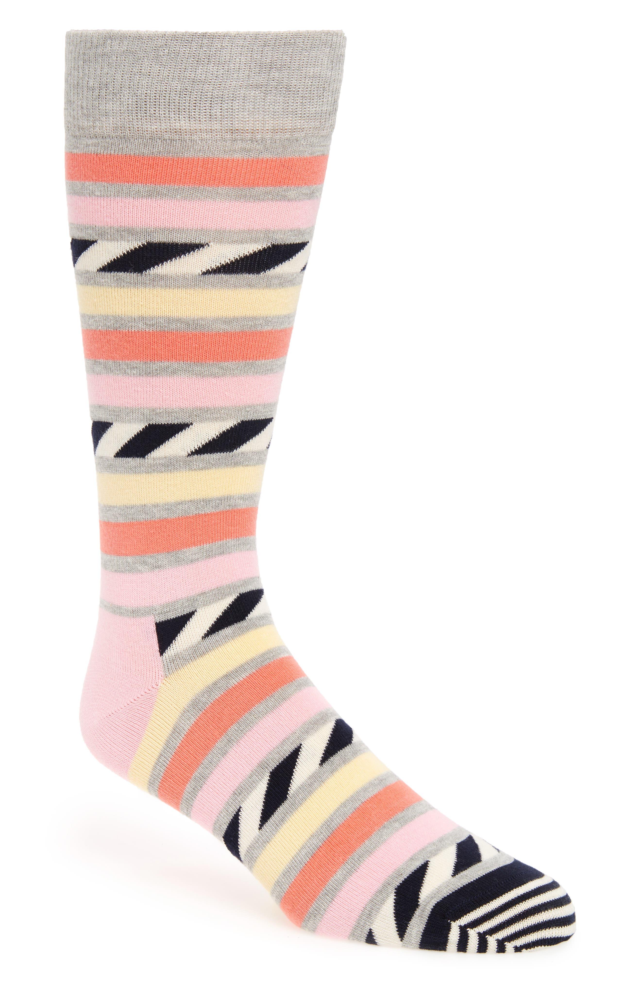Alternate Image 1 Selected - Happy Socks Stripe Cotton Blend Socks (3 for $30)