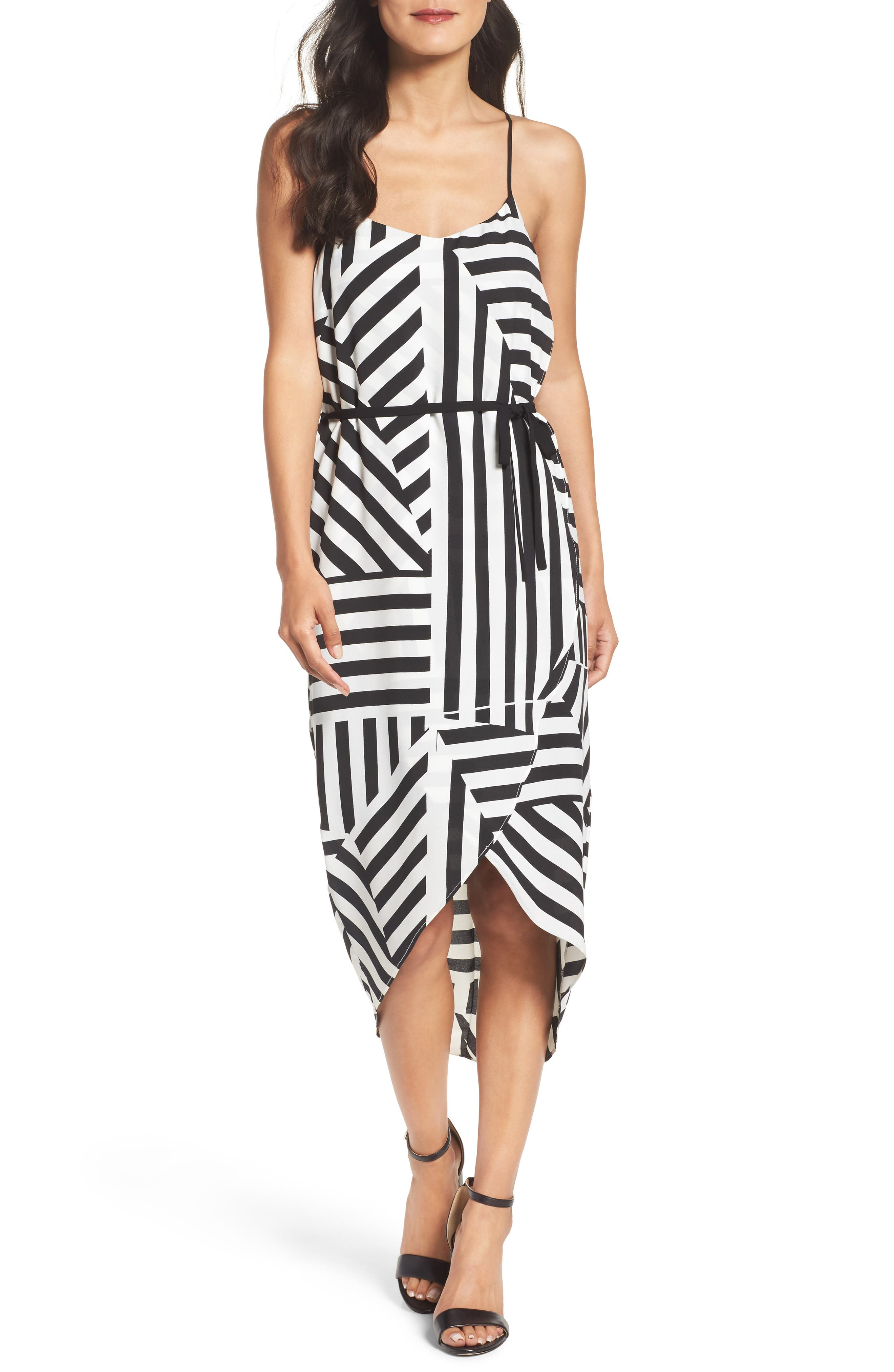 Felicity & Coco Stripe Wrap Dress (Nordstrom Exclusive)