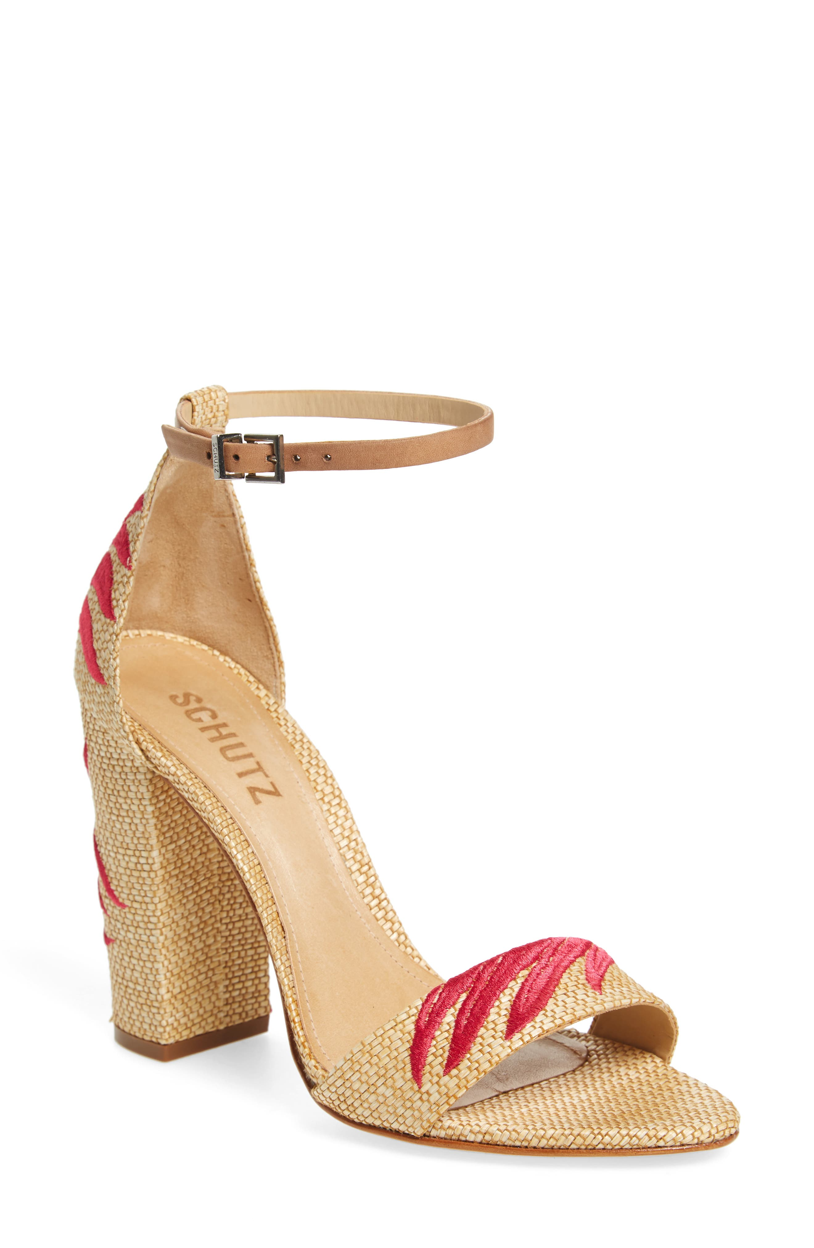 Alternate Image 1 Selected - Schutz Carolaine Woven Sandal (Women)
