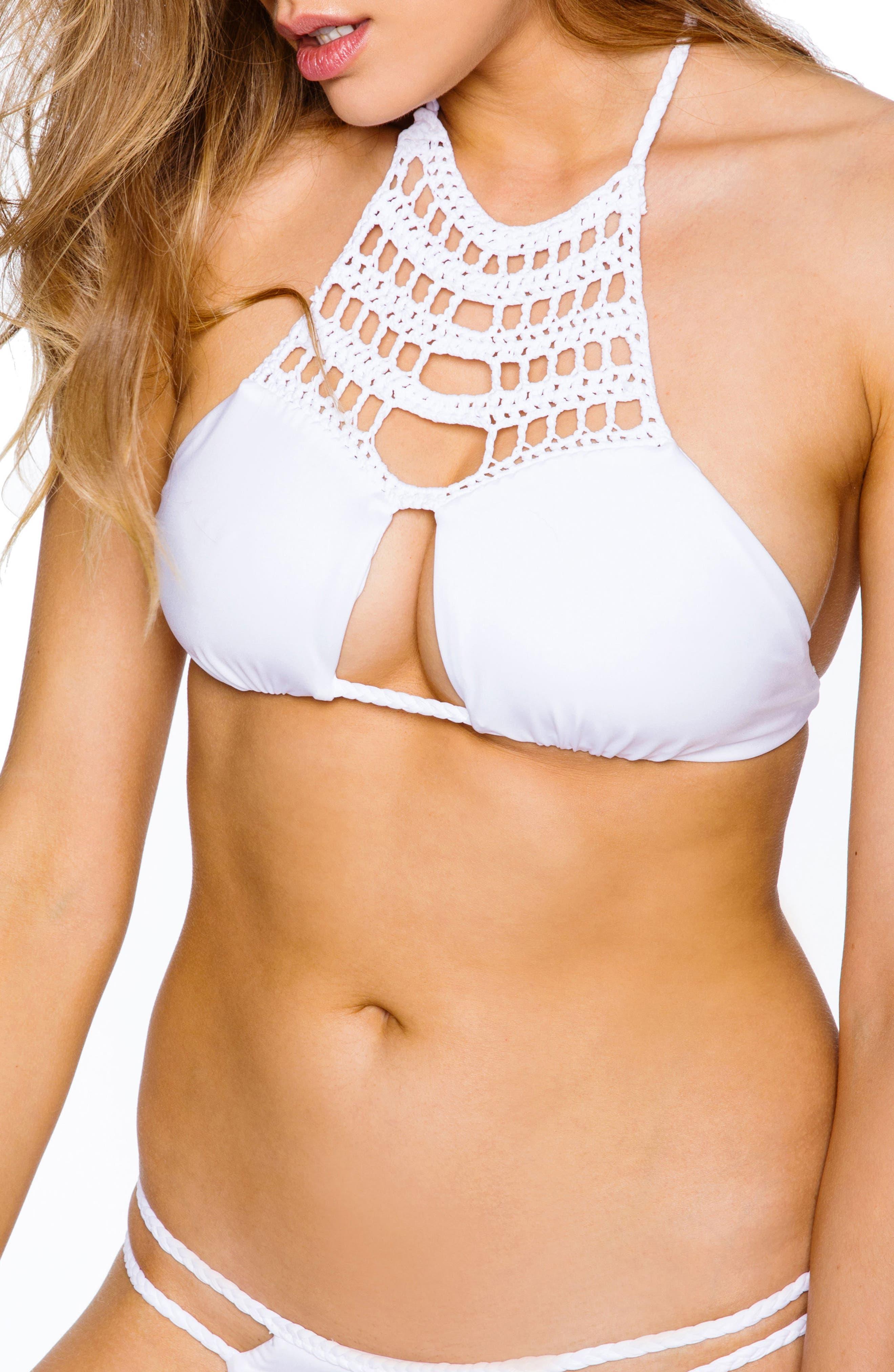 Mimi Bikini Top,                         Main,                         color, White