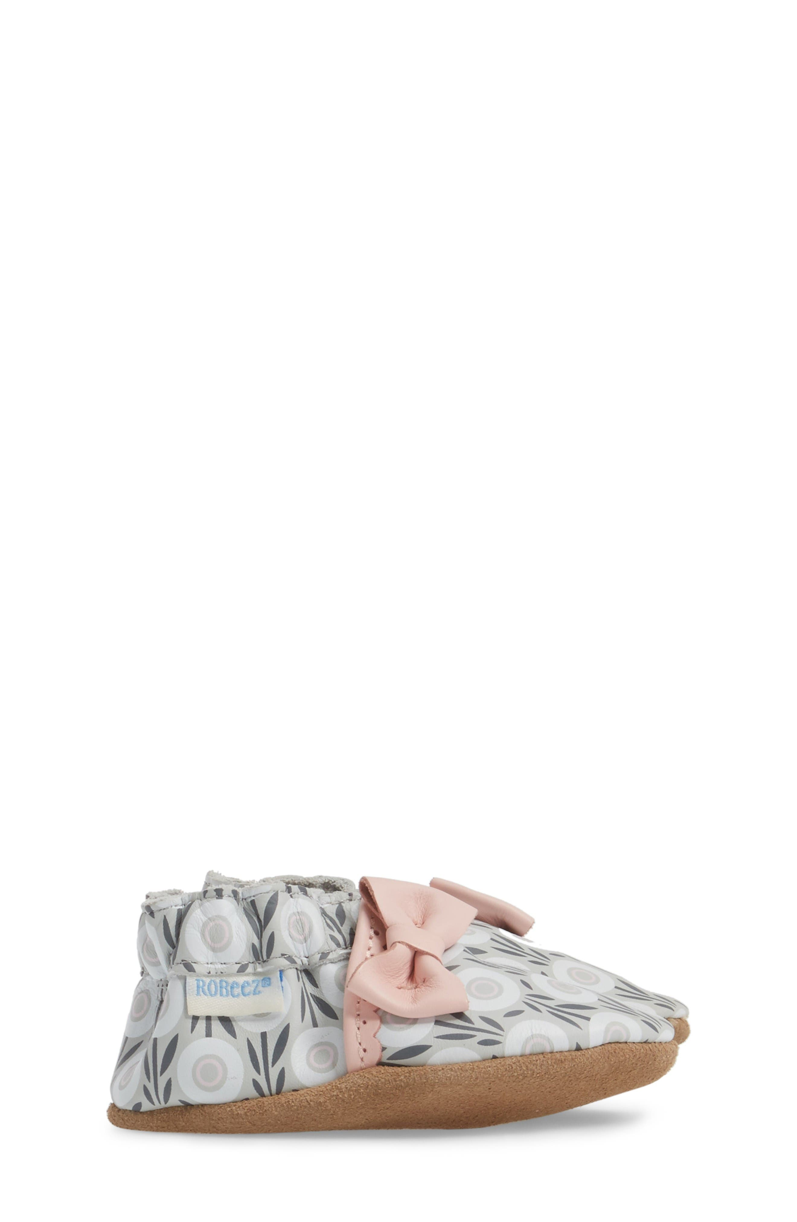 Alternate Image 3  - Robeez® Wildflowers Crib Shoe (Baby & Walker)