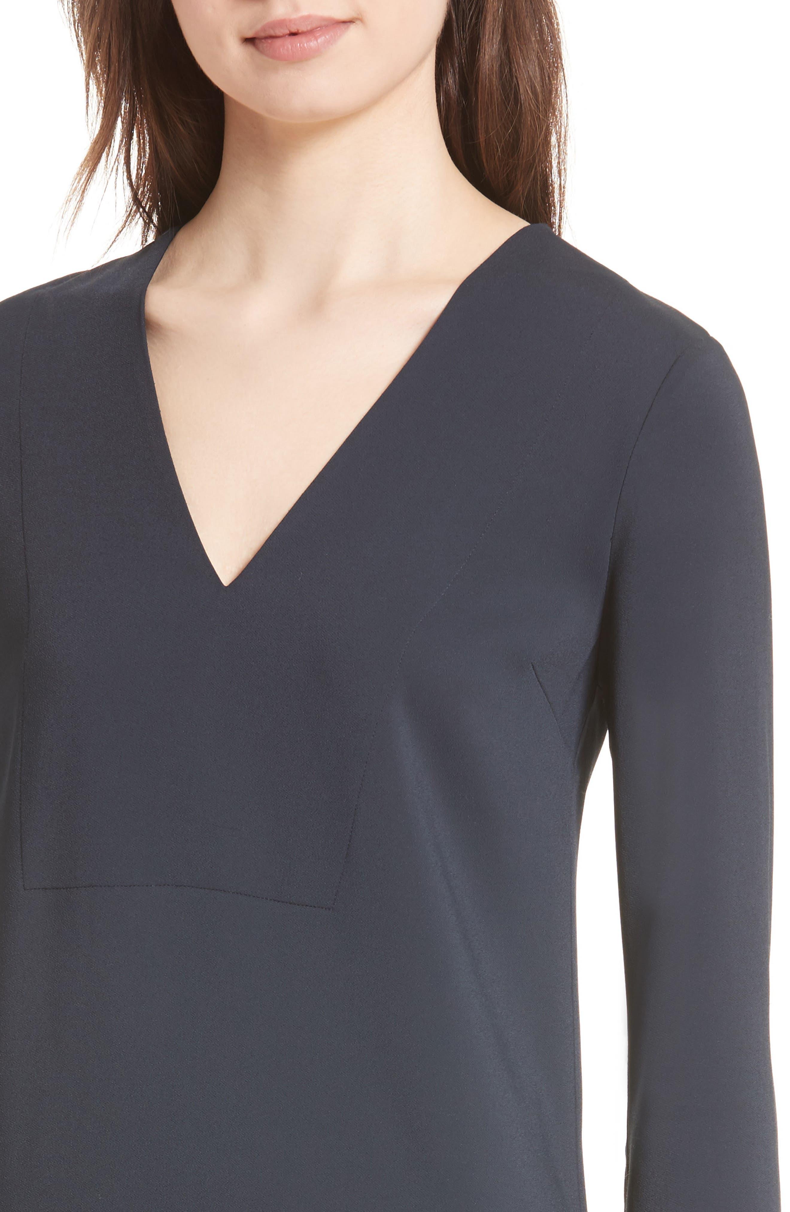 V-Neck Tunic Dress,                             Alternate thumbnail 4, color,                             Coastal