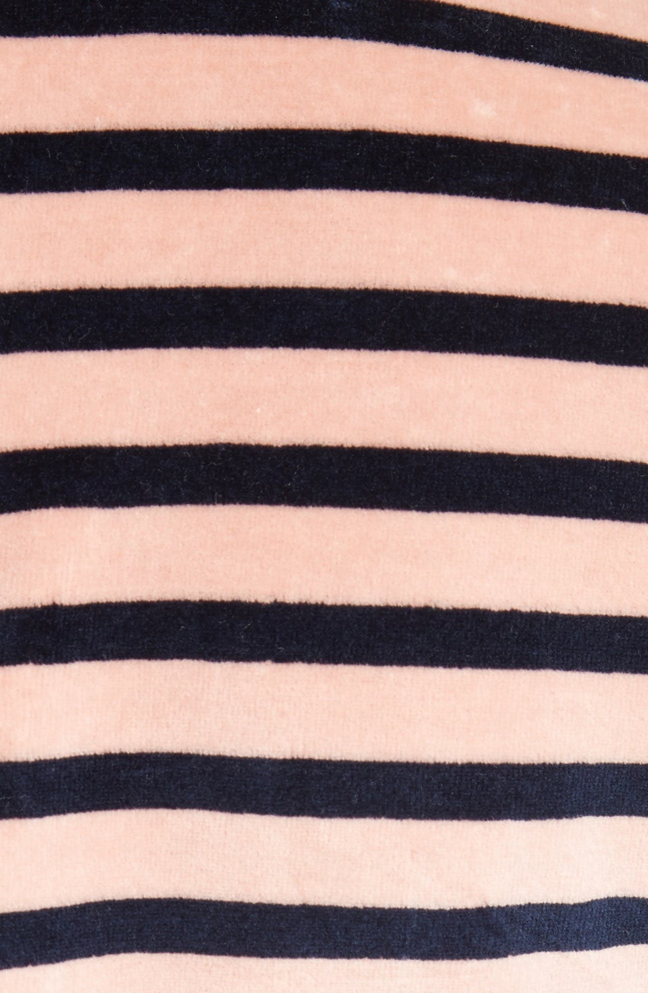 Stripe Velvet Dress,                             Alternate thumbnail 5, color,                             Rose/ Navy Stripe
