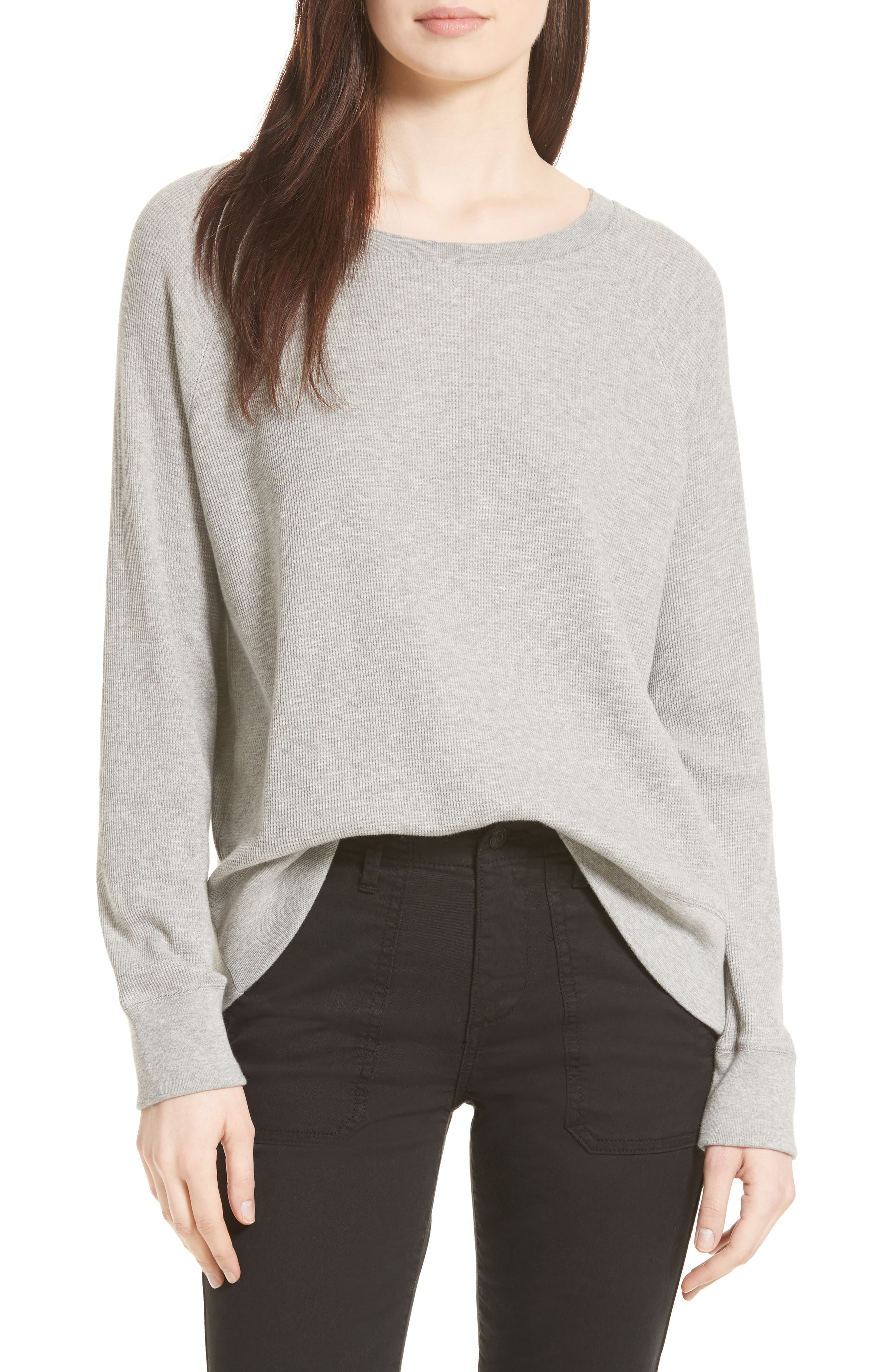 Vince Thermal Pima Cotton Pullover
