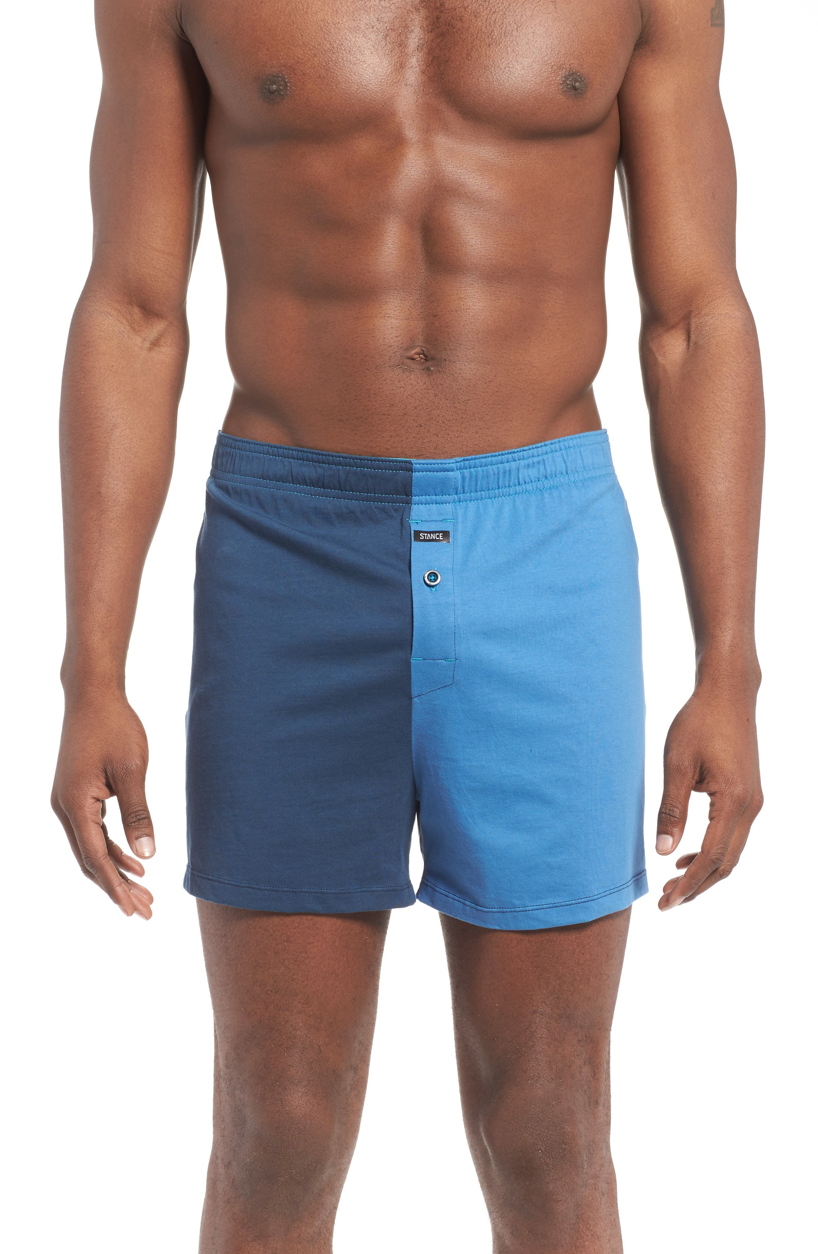 Visita Split Screen Relaxed Fit Boxer Briefs,                         Main,                         color, Navy/ Black