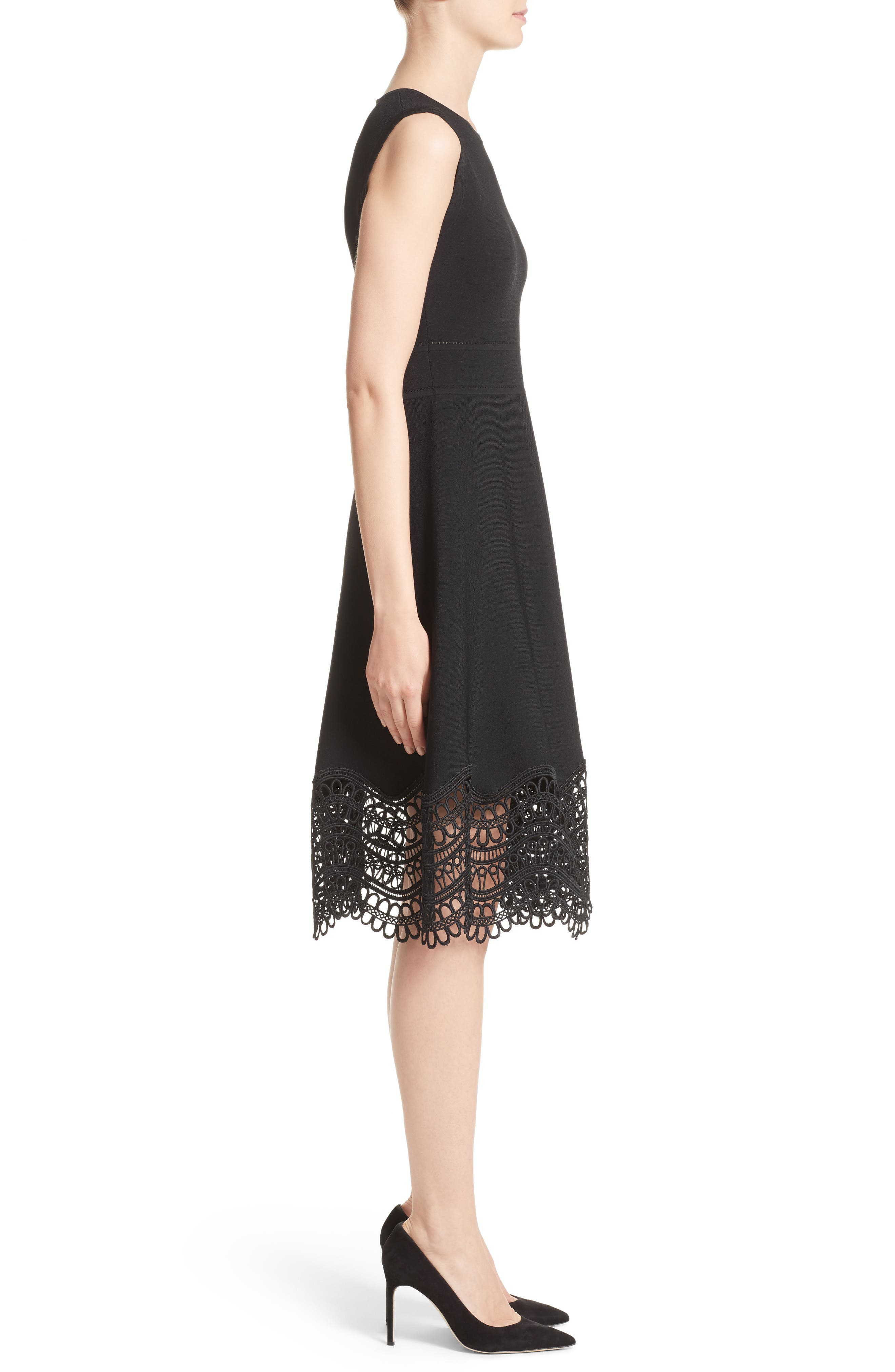 Alternate Image 5  - Lela Rose Lace Hem Dress