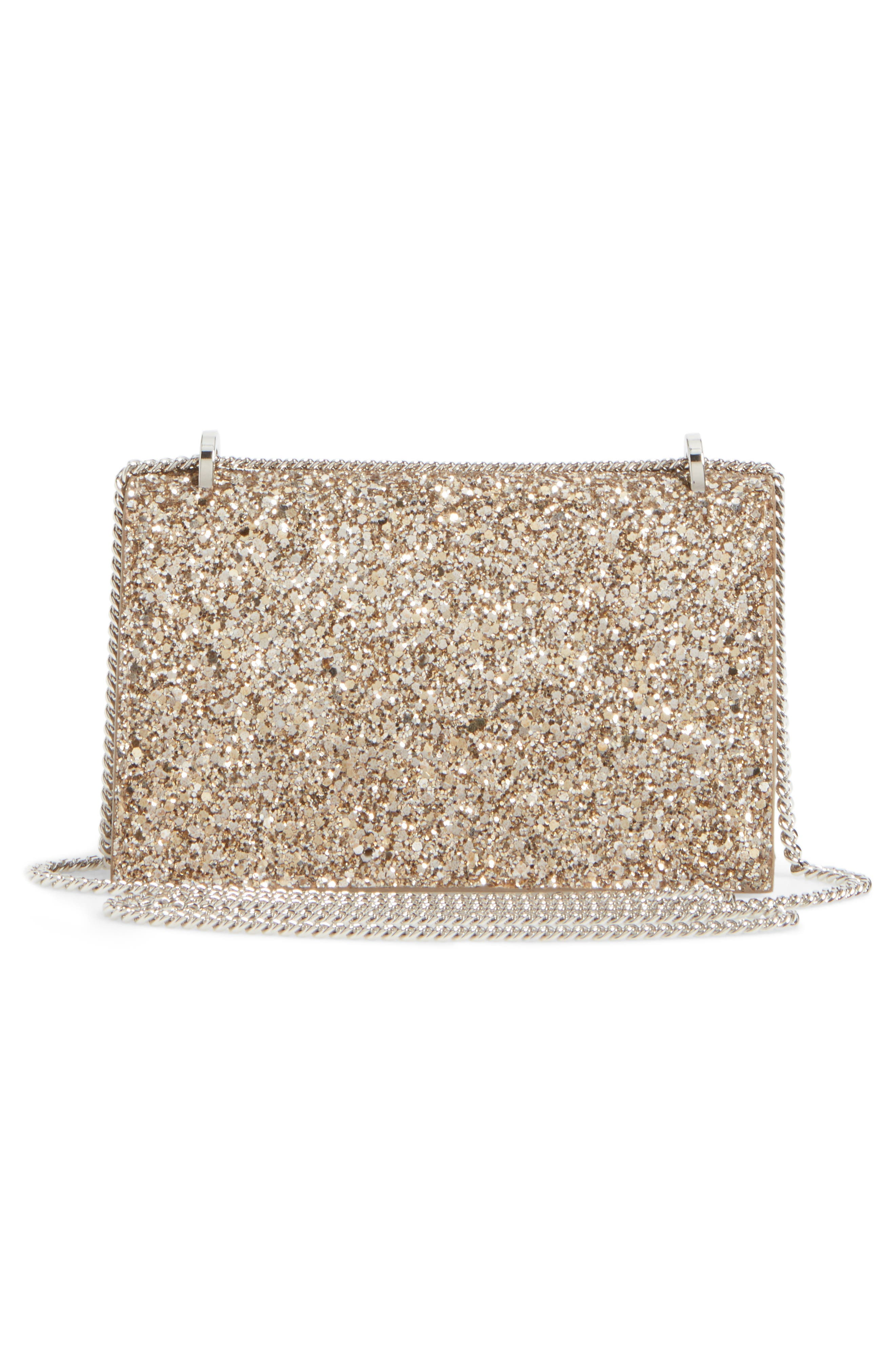 Finley Shadow Glitter Shoulder Bag,                             Alternate thumbnail 3, color,                             Antique Gold