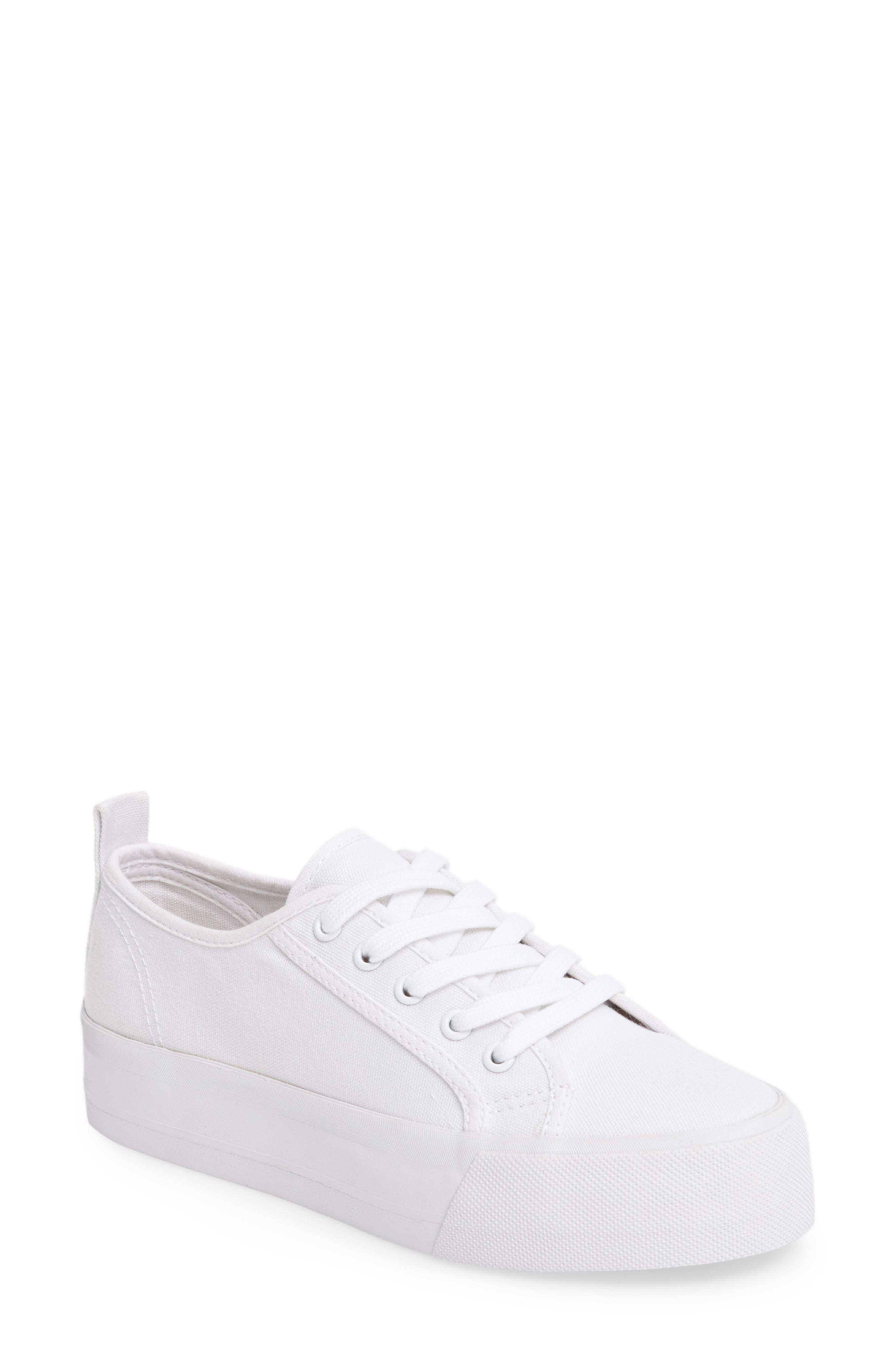 Sneak Platform Sneaker,                             Main thumbnail 1, color,                             White Canvas