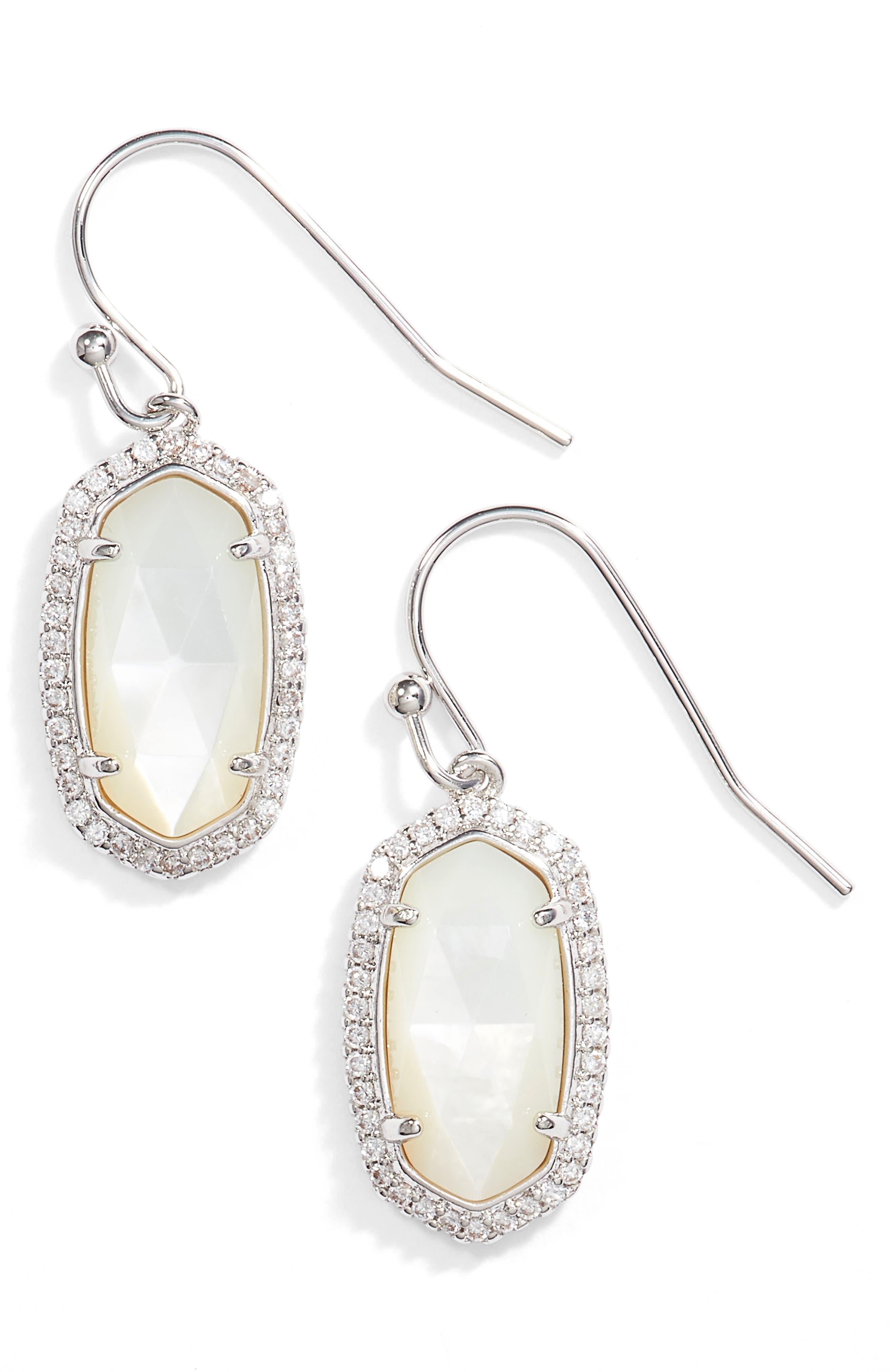 KENDRA SCOTT Lee Pavé Drop Earrings