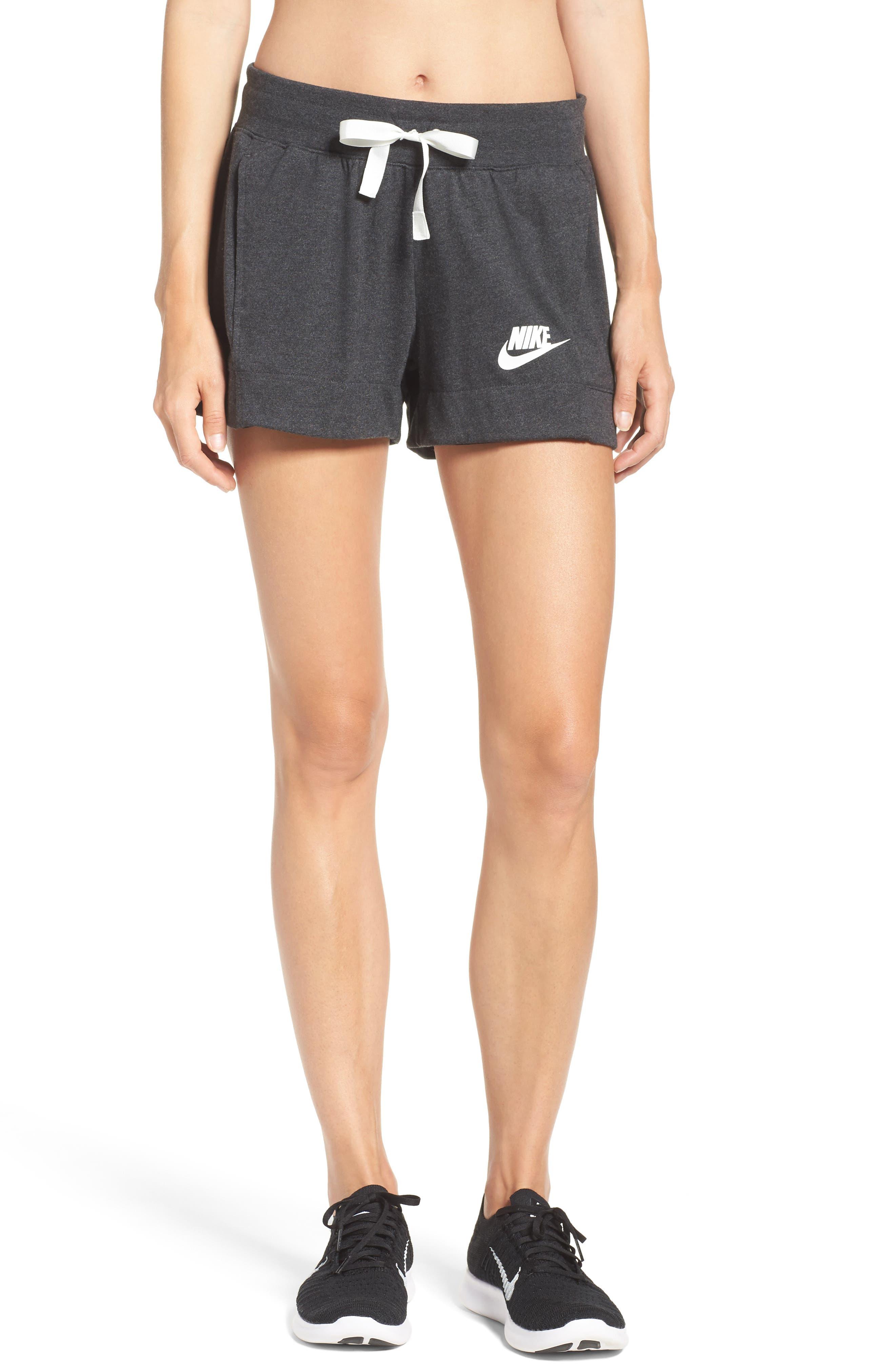Sportswear Gym Classic Shorts,                         Main,                         color, Black Heather/ Sail