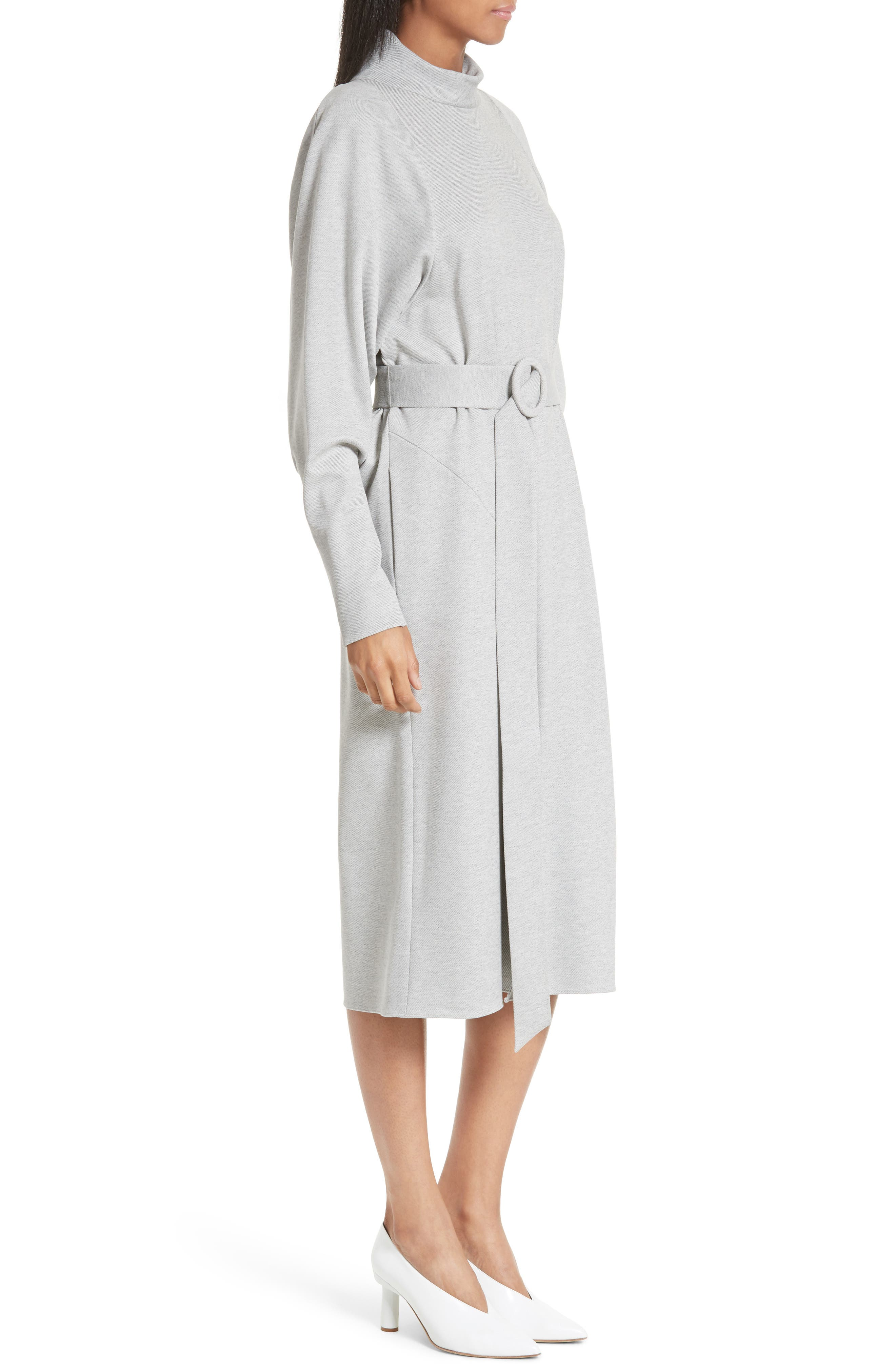 Alternate Image 3  - Tibi Dolman Sleeve Stretch Twill Midi Dress