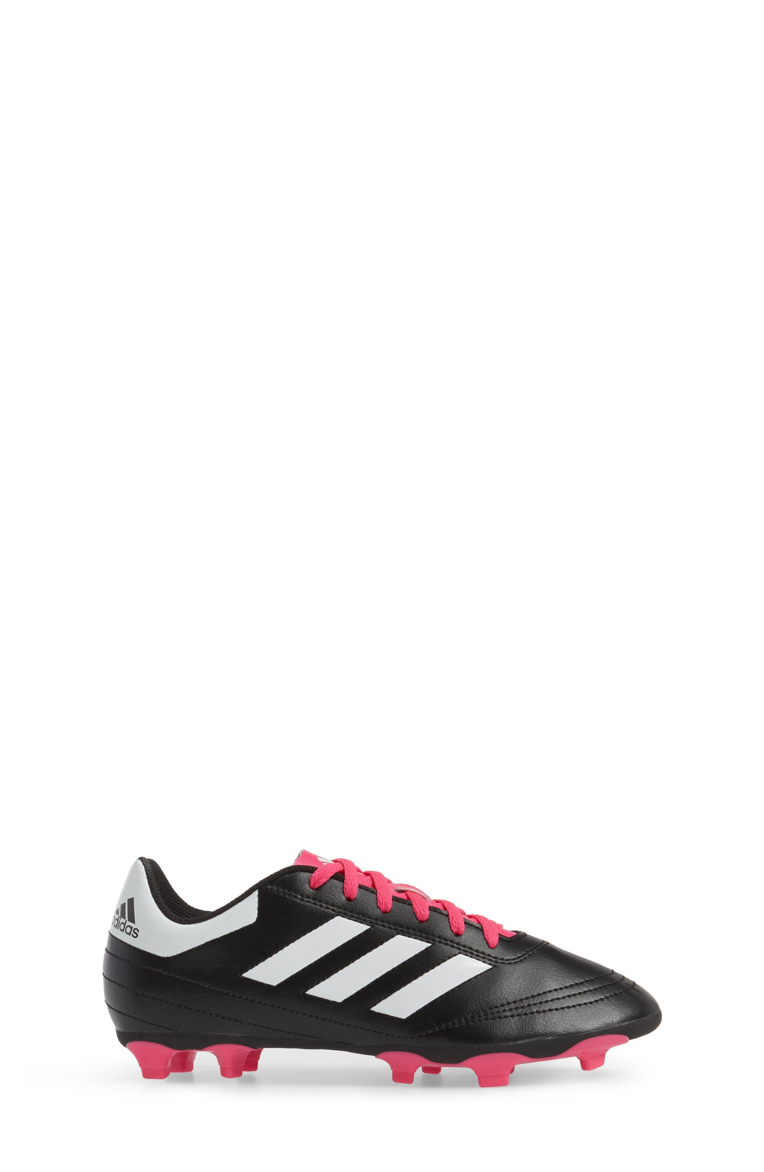 Goletto VI Soccer Shoe,                             Alternate thumbnail 3, color,                             Core Black/ White/ Shock Pink