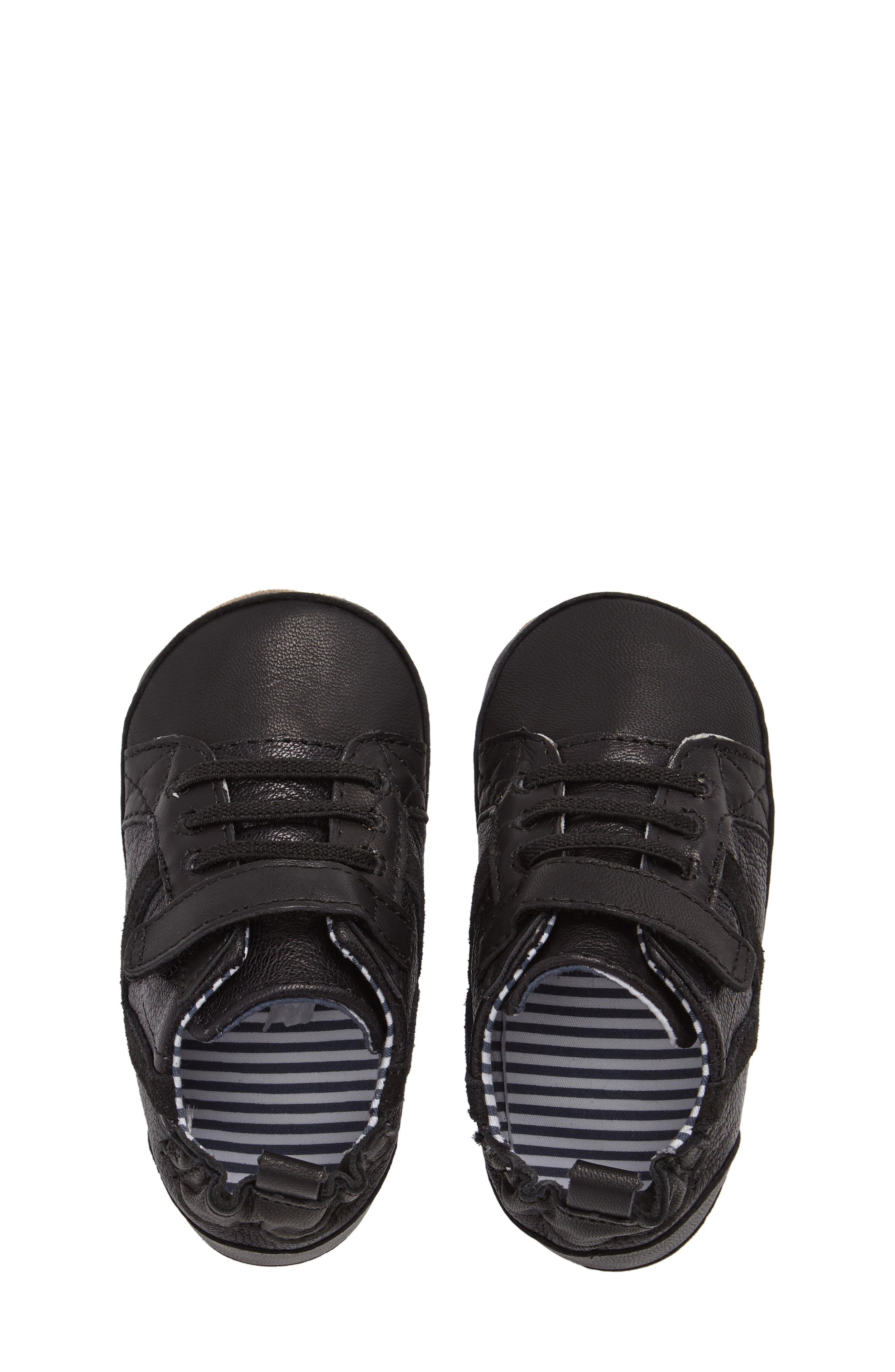 Asher Crib Shoe,                             Alternate thumbnail 5, color,                             Black