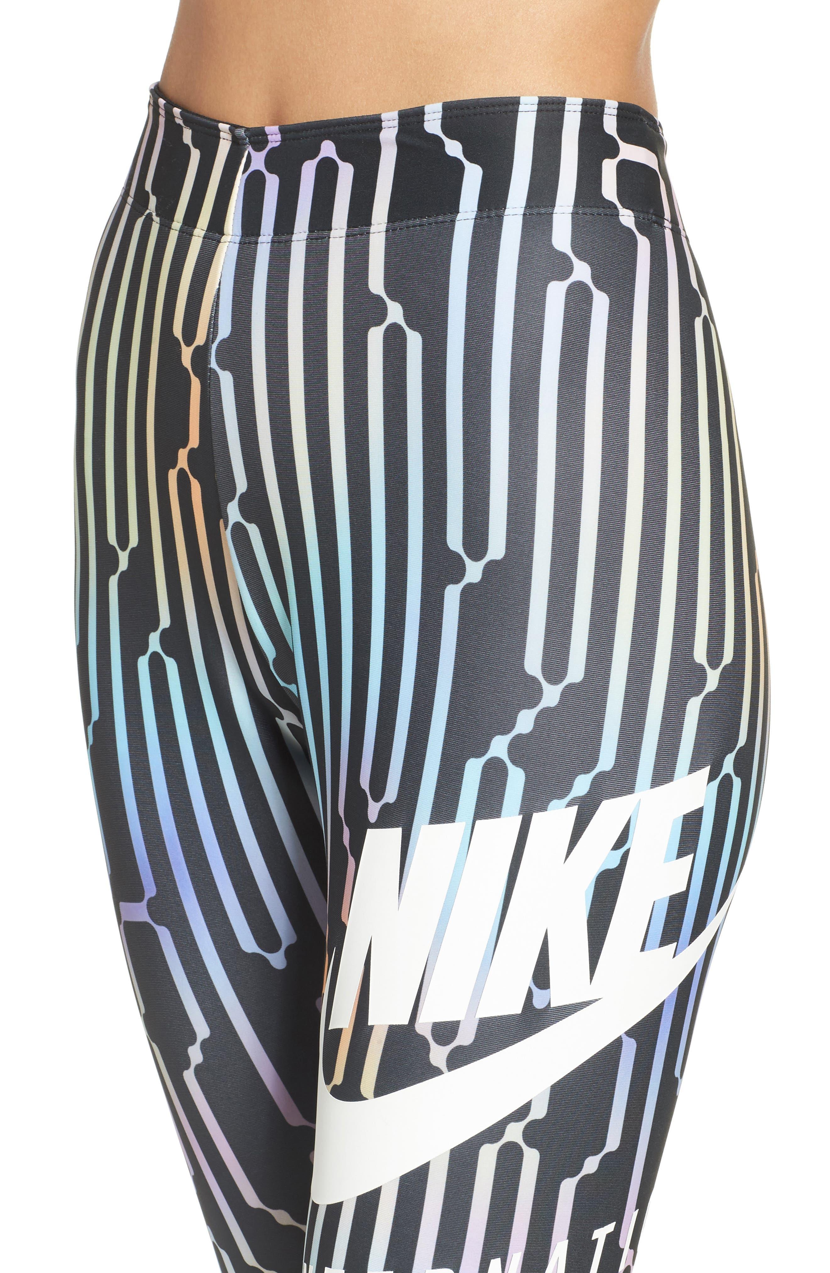 International Leggings,                             Alternate thumbnail 4, color,                             Black/ White