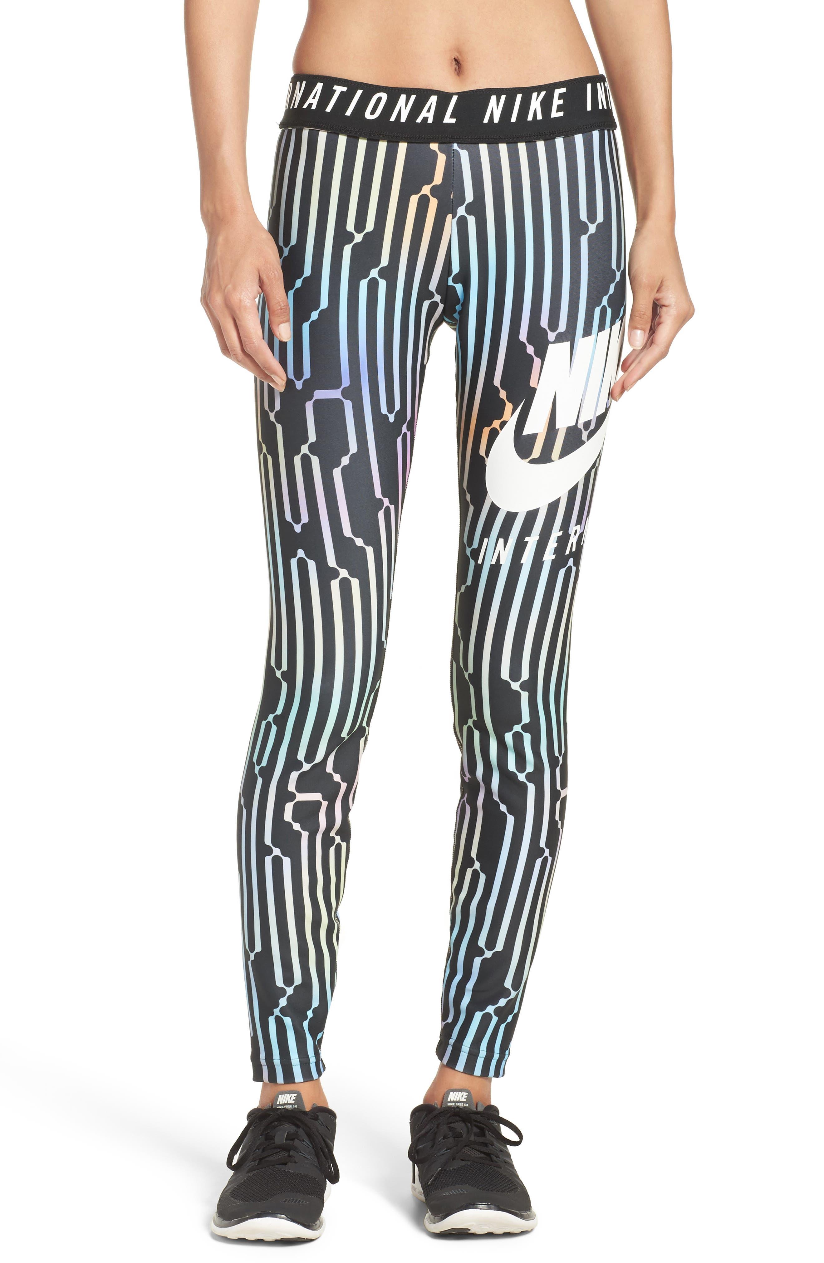 International Leggings,                         Main,                         color, Black/ White
