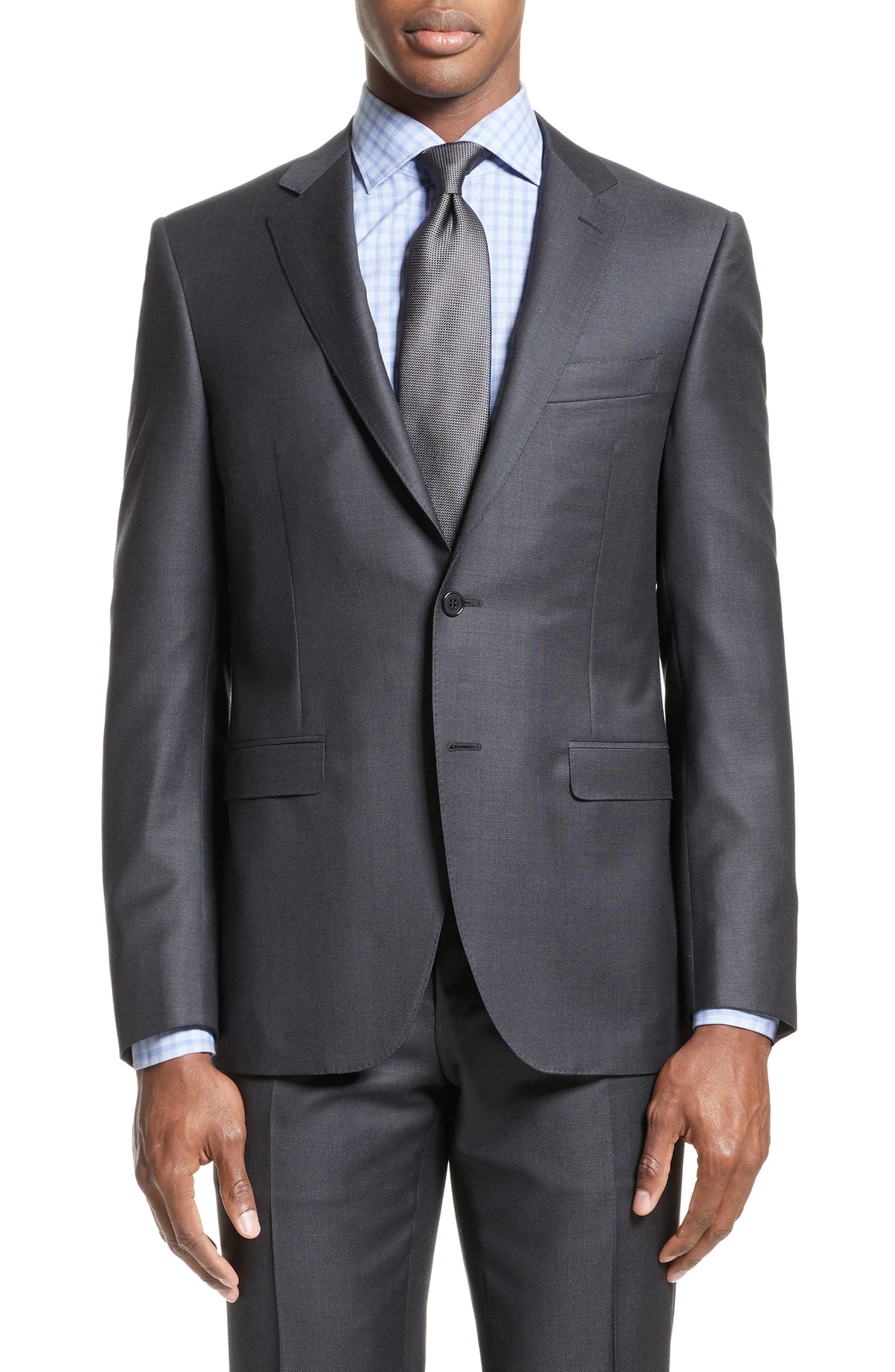 Alternate Image 5  - Canali Classic Fit Solid Wool Suit