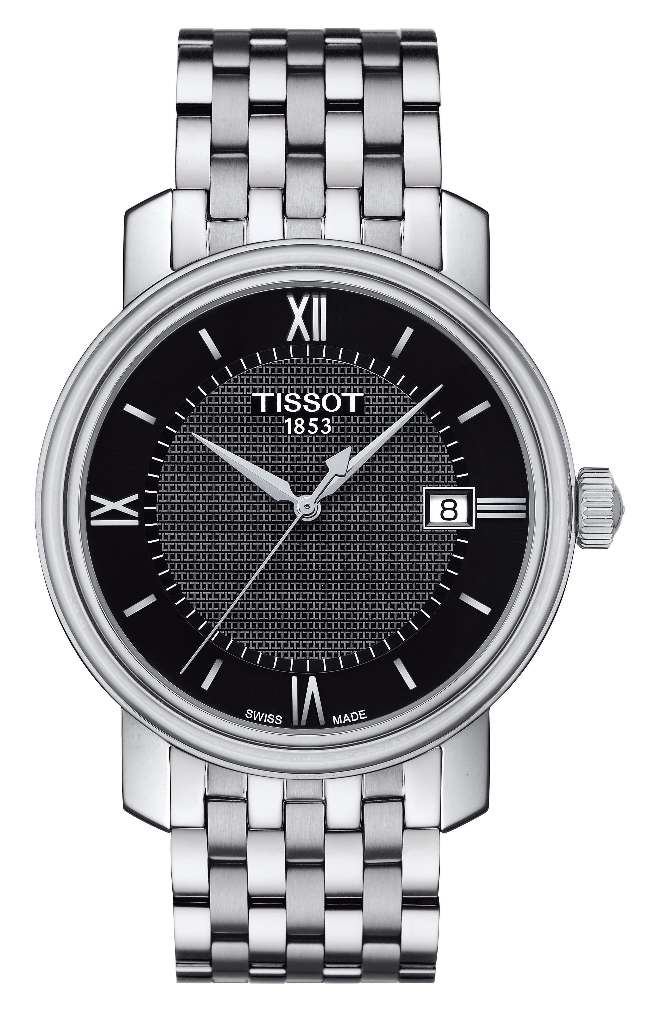 Bridgeport Bracelet Watch, 40mm,                             Main thumbnail 1, color,                             Silver/ Black/ Silver