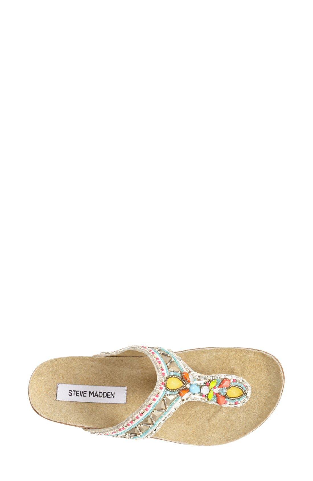 Alternate Image 3  - Steve Madden 'Fiessta' Embellished Thong Sandal (Women)