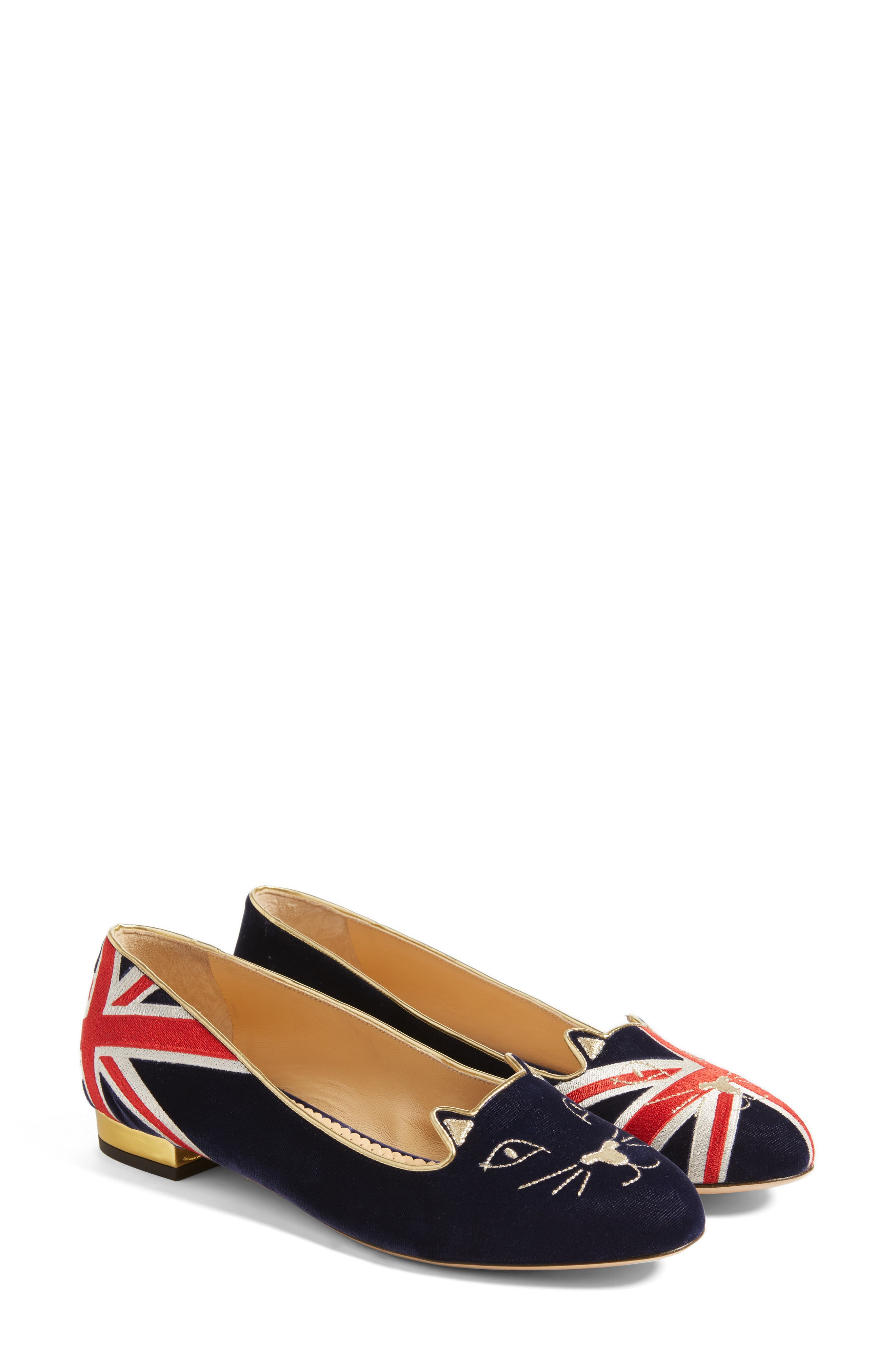 Charlotte Olympia Great Britain Kitty Flat (Women)