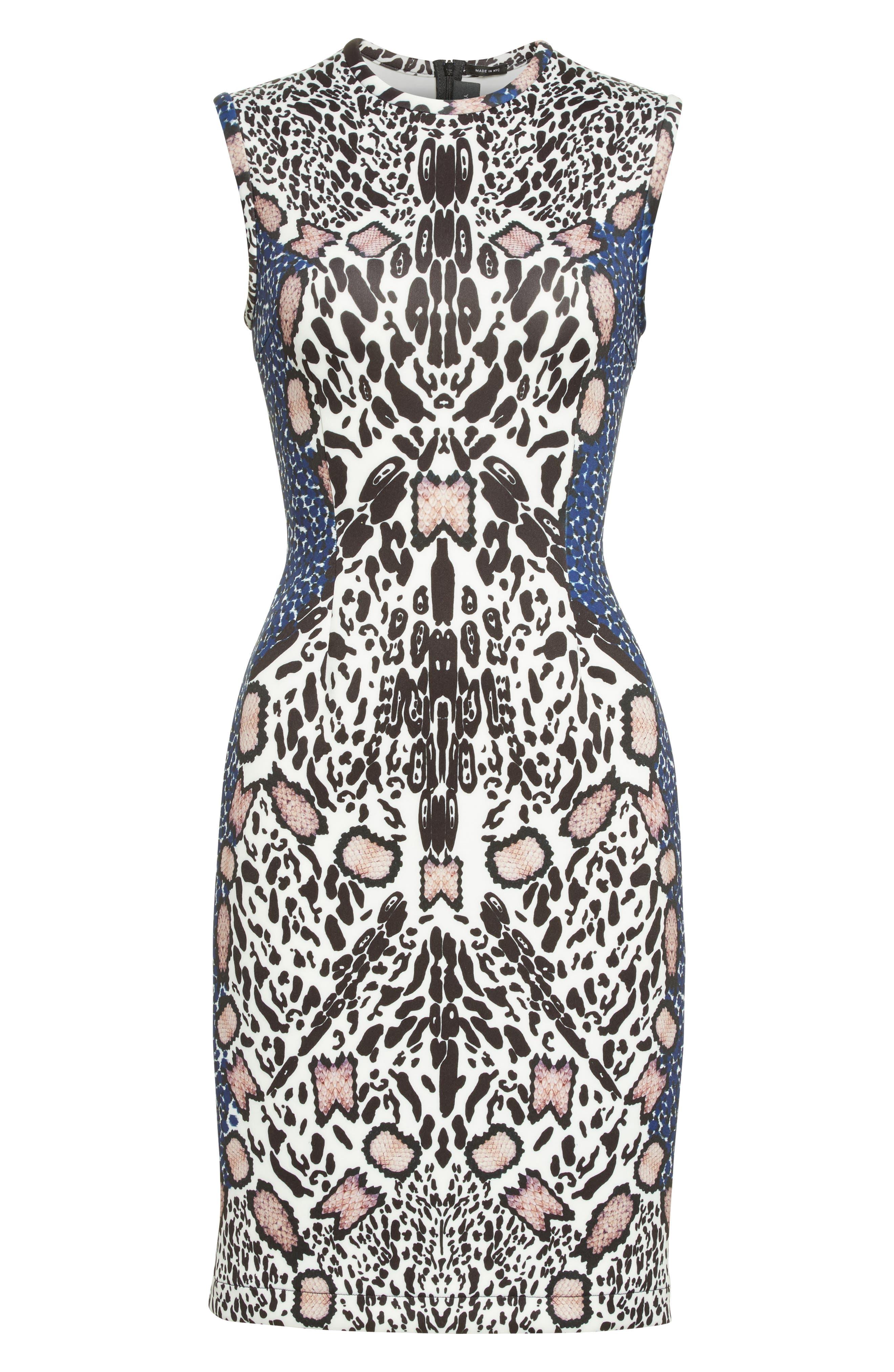 Alternate Image 4  - Yigal Azrouël Cheetah Neoprene Sheath Dress